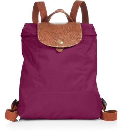 Longchamp Le Pliage Backpack in Purple (fuchsia) - Lyst