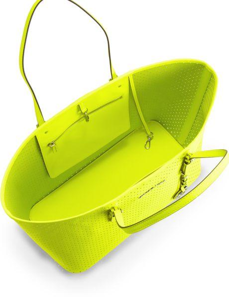 Medium Neon Bag Tote Bag in Yellow Neon
