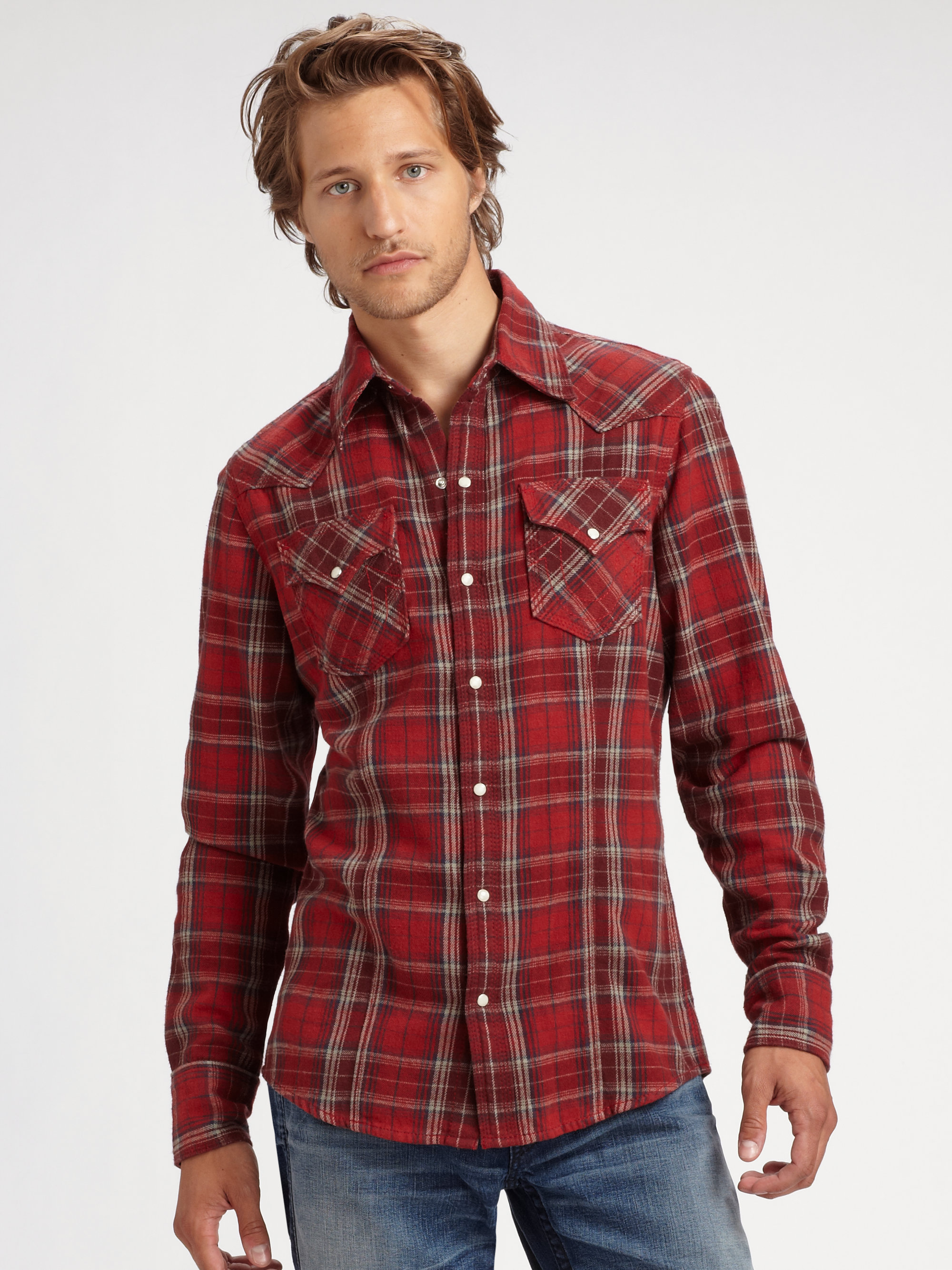 We carry long sleeve shirts, short sleeve shirts, plaid shirts, flannel shirts, dress shirts, t-shirts and more priced low for any budget. Sheplers is the perfect place to .