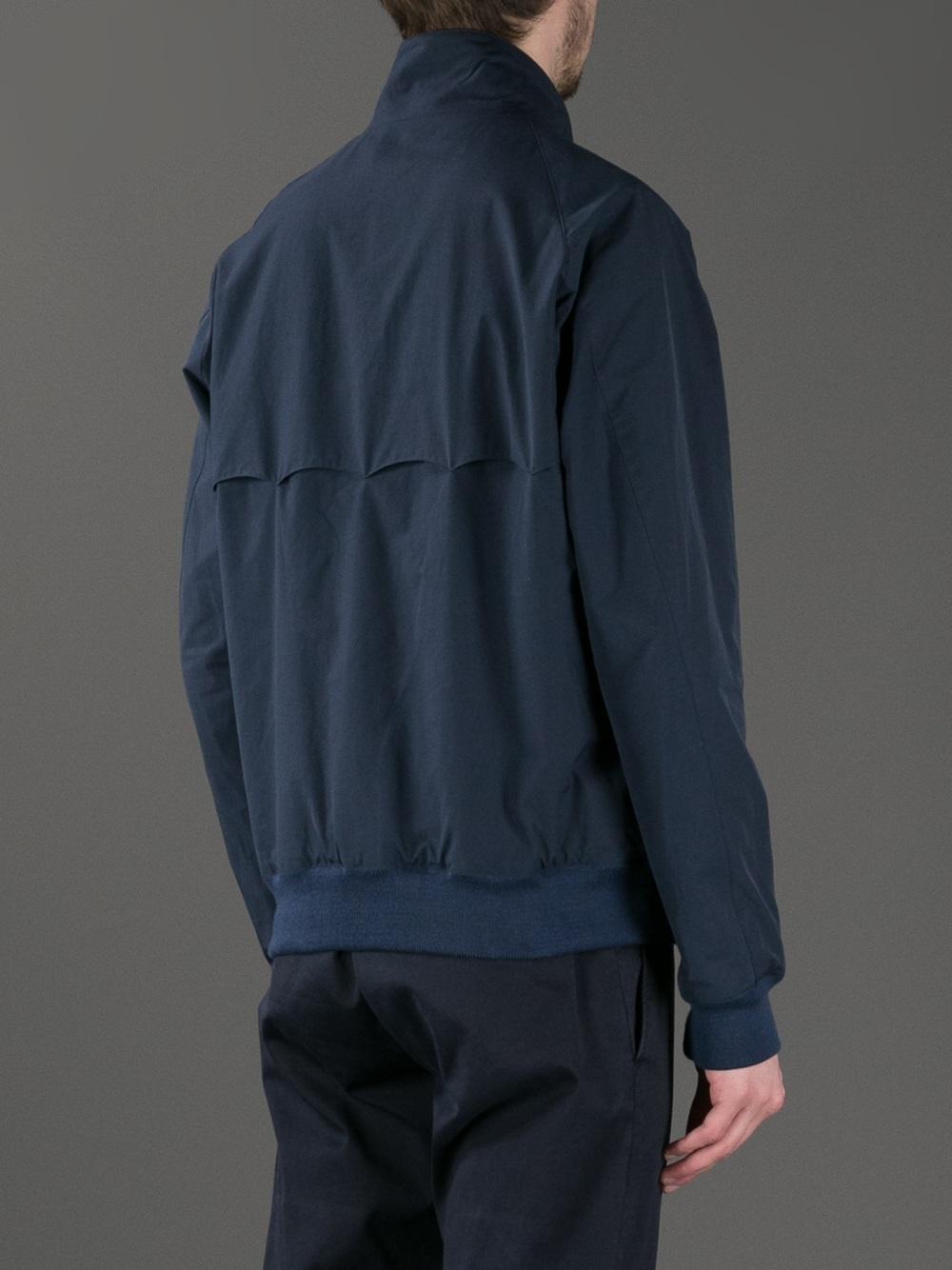 Baracuta Harrington Coolmax Lined Jacket in Navy (Blue) for Men