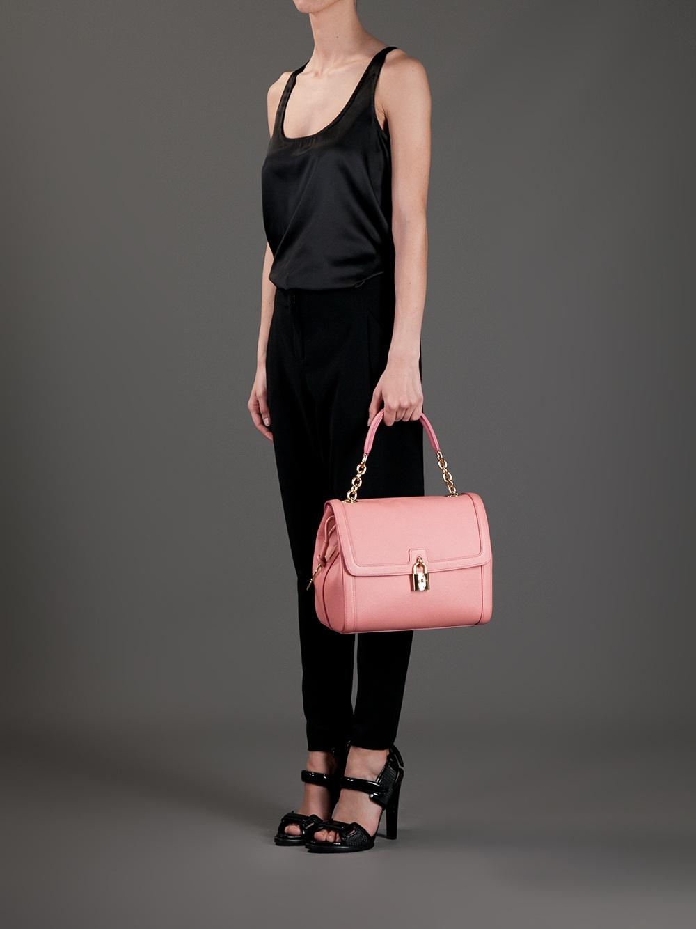 Dolce & Gabbana Padlock Tote in Pink