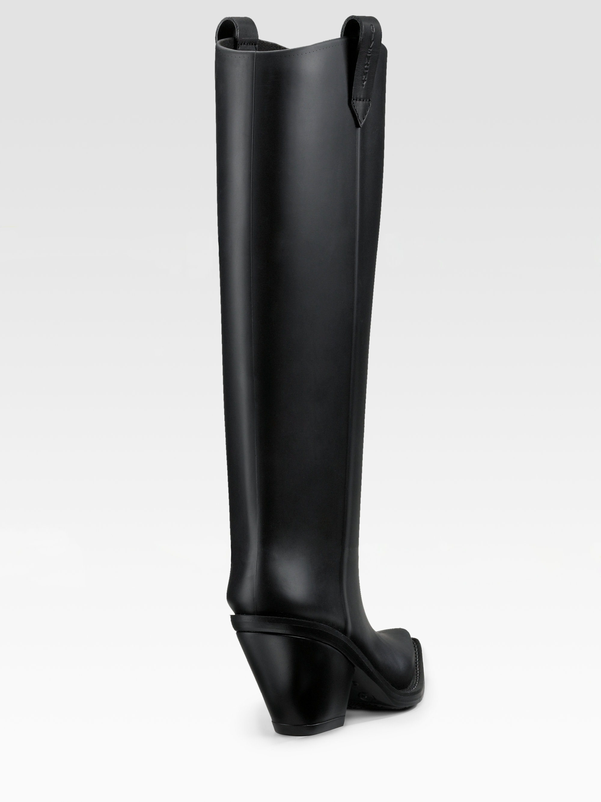 Givenchy Rubber Cowboy Boots in Black