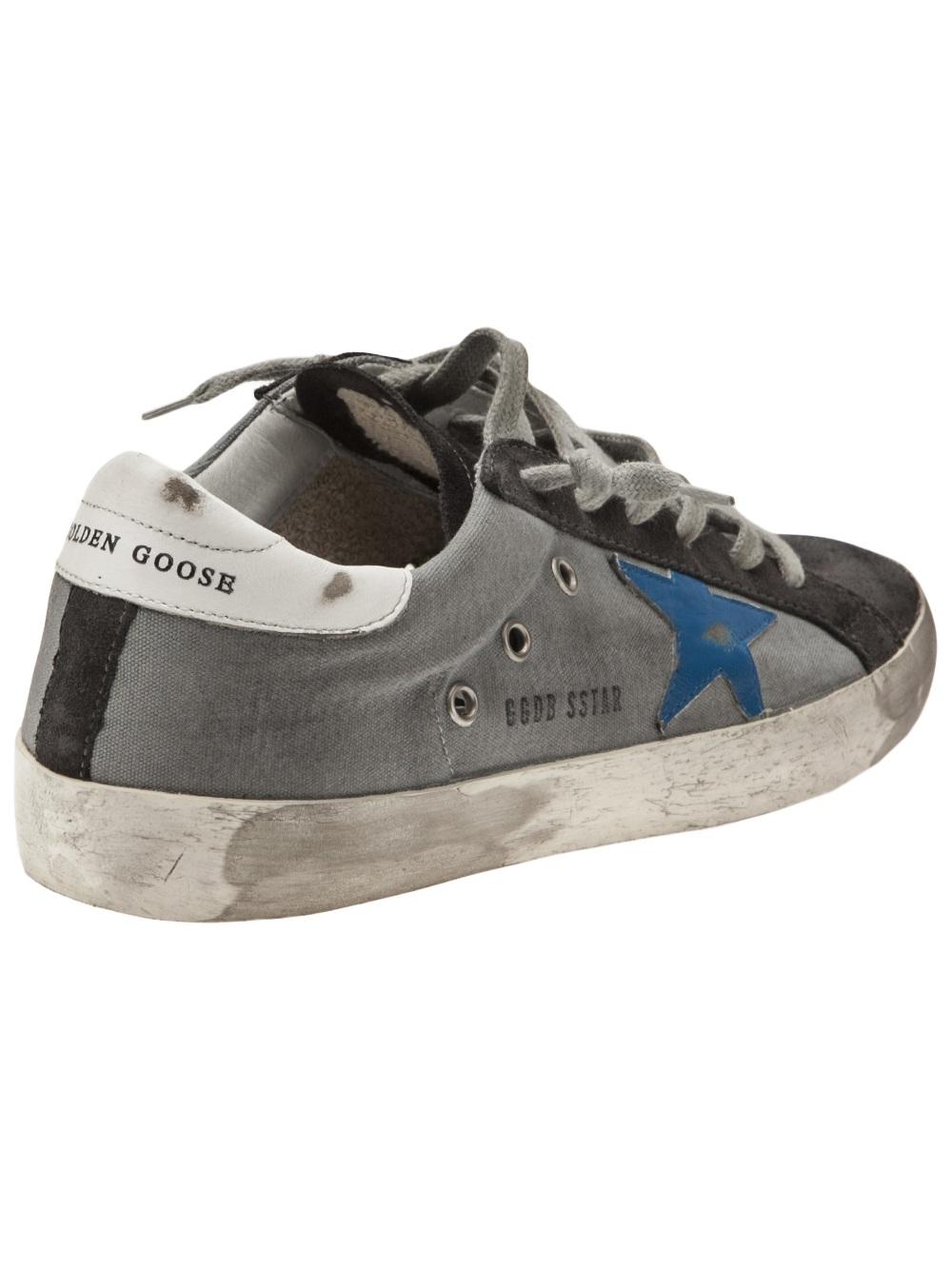 Golden Goose Deluxe Brand Superstar Sneakers in Blue (Black)