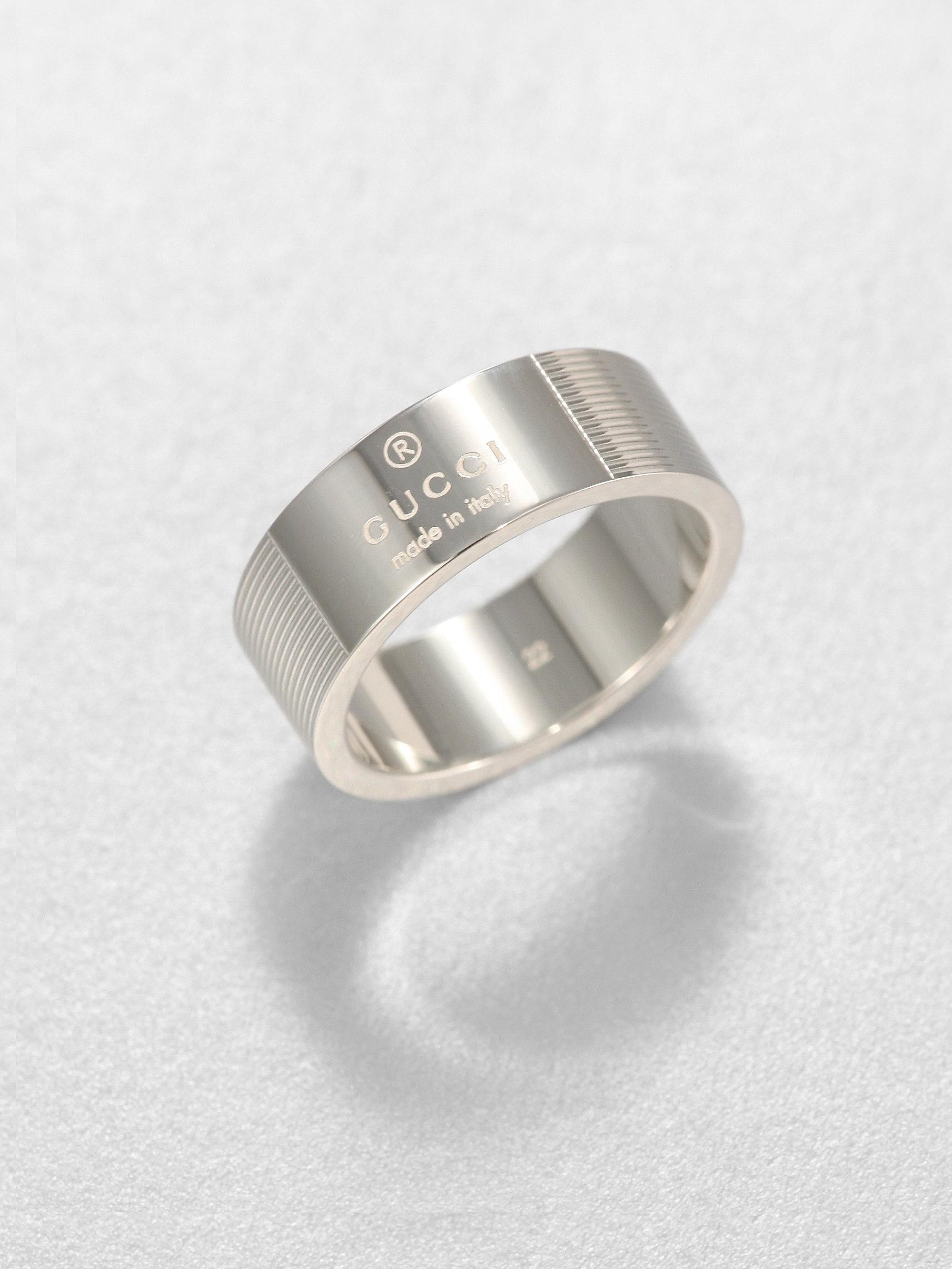 eb5dedc8165 Lyst - Gucci Stripes Ring in Metallic for Men