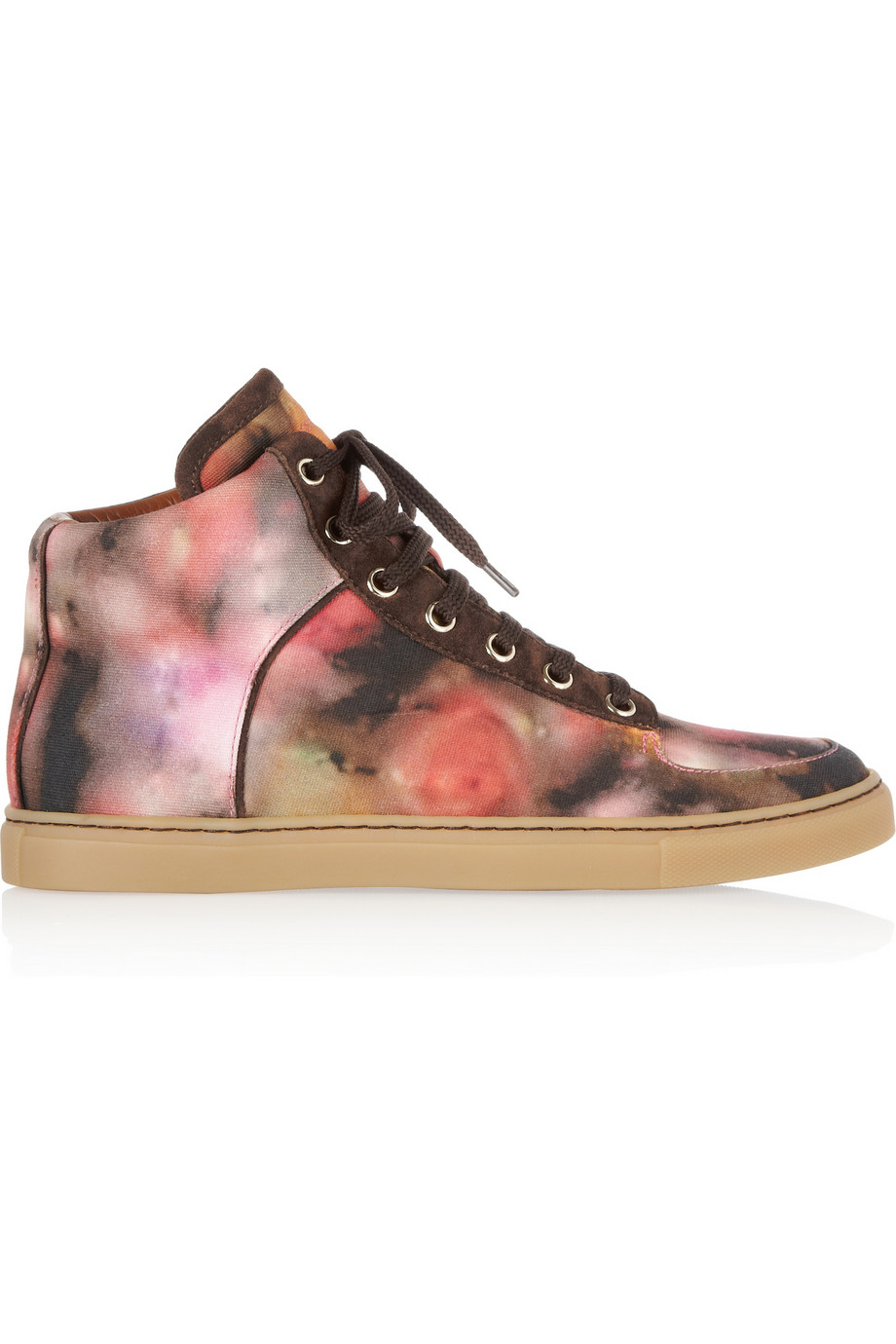 2c25a74ee1fc Lyst - Mulberry Blurry Bloom Canvas Hightop Sneakers