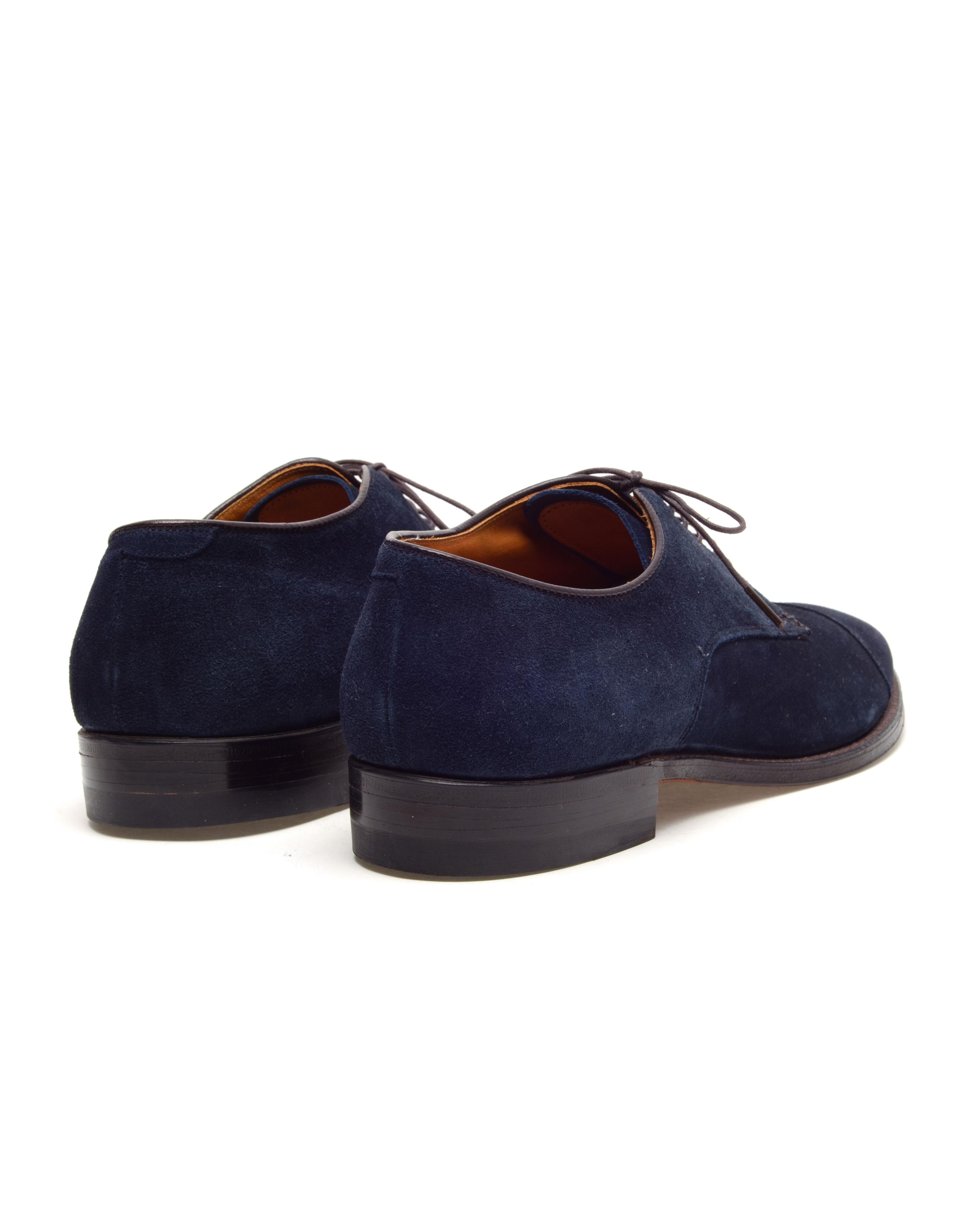 Alden Suede Lace Up Derby Shoes in Blue for Men