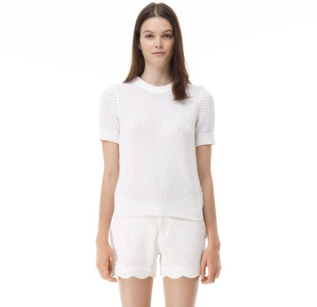 Club Monaco Rhonda Sweater in White (blanco)