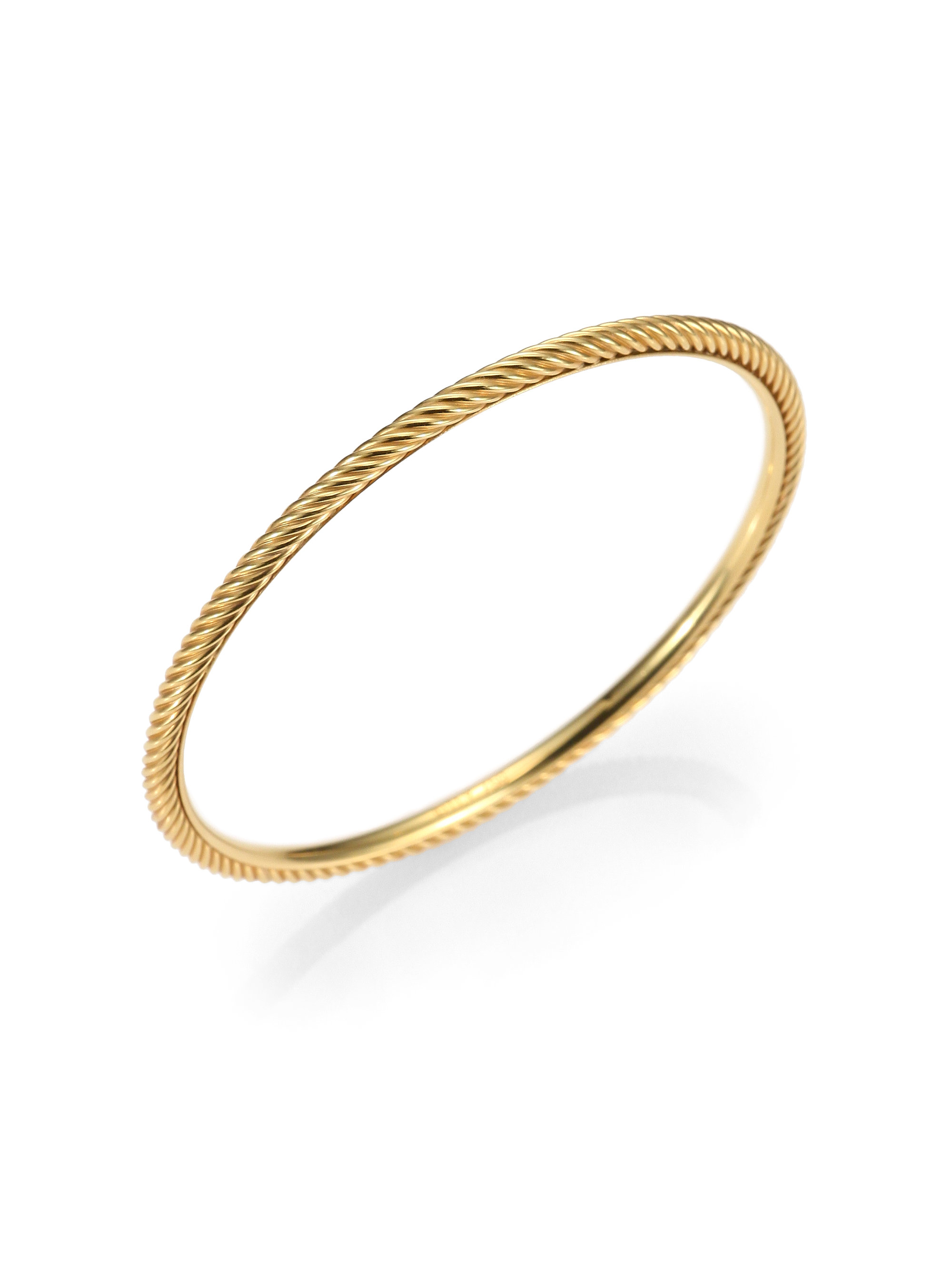 David yurman 18k gold bangle bracelet in gold lyst for David yurman like bracelets