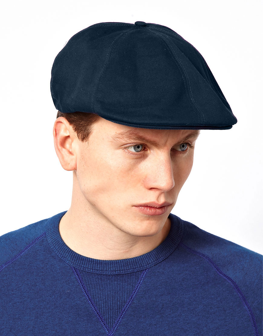 Lyst - Fred Perry Flat Cap in Blue for Men c6a5f691e2a