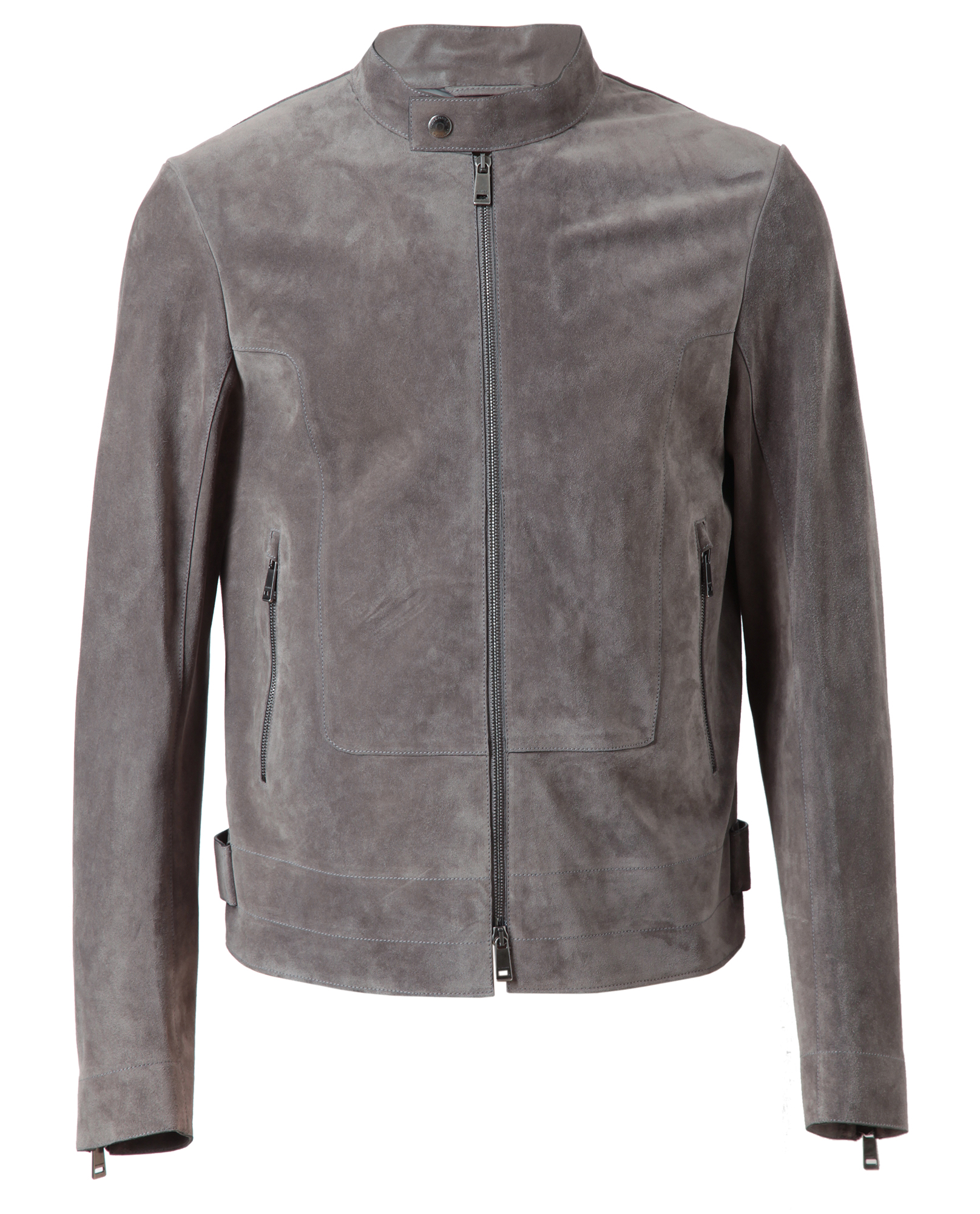 lyst jil sander brushed suede jacket in gray for men. Black Bedroom Furniture Sets. Home Design Ideas