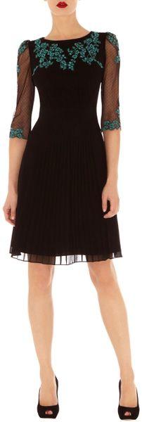 Karen Millen Polka Dot Mesh Skirt Dress In Black Lyst