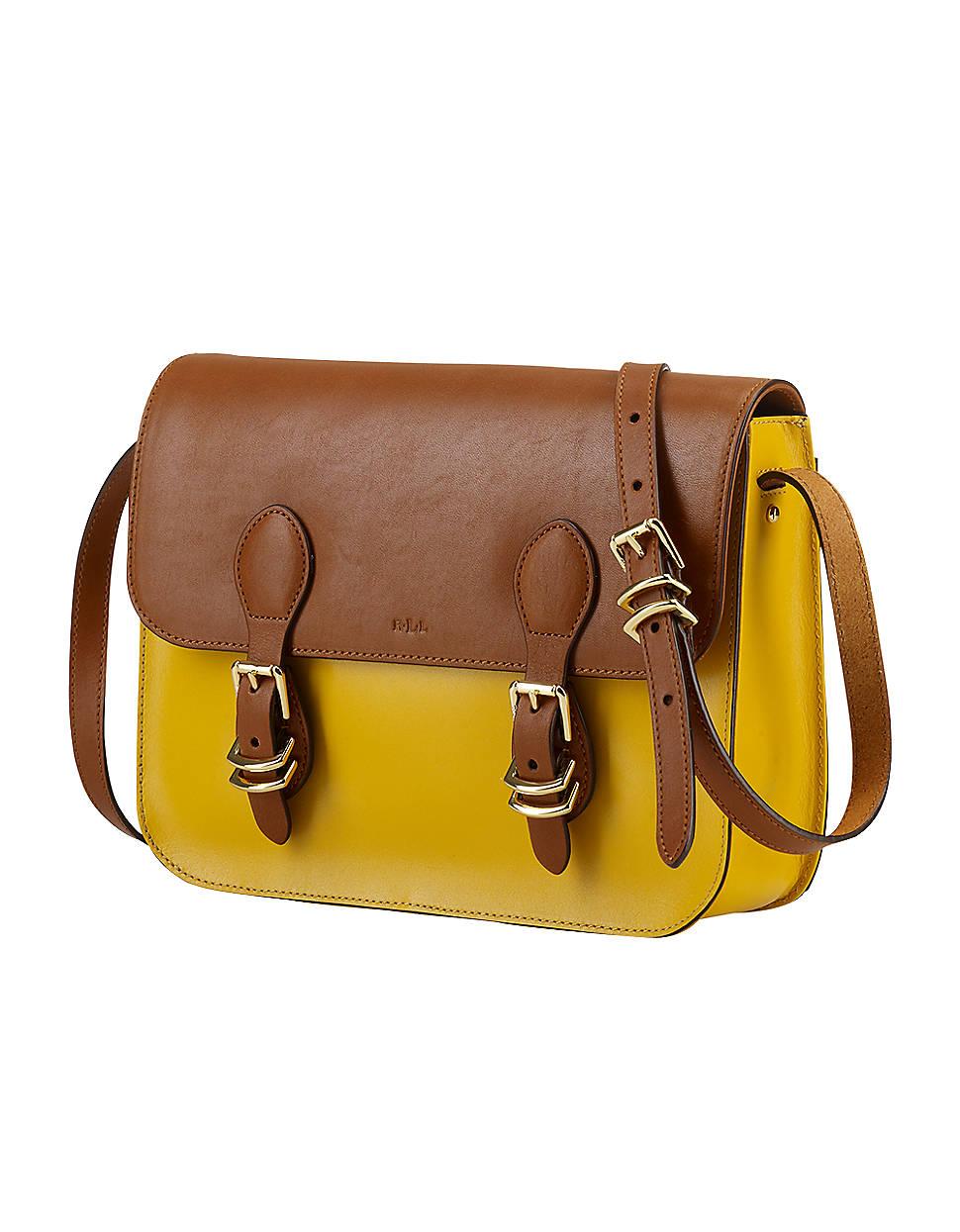 9f9682cdbc Lauren By Ralph Lauren Bexley Heath Medium Leather Messenger Bag in ...