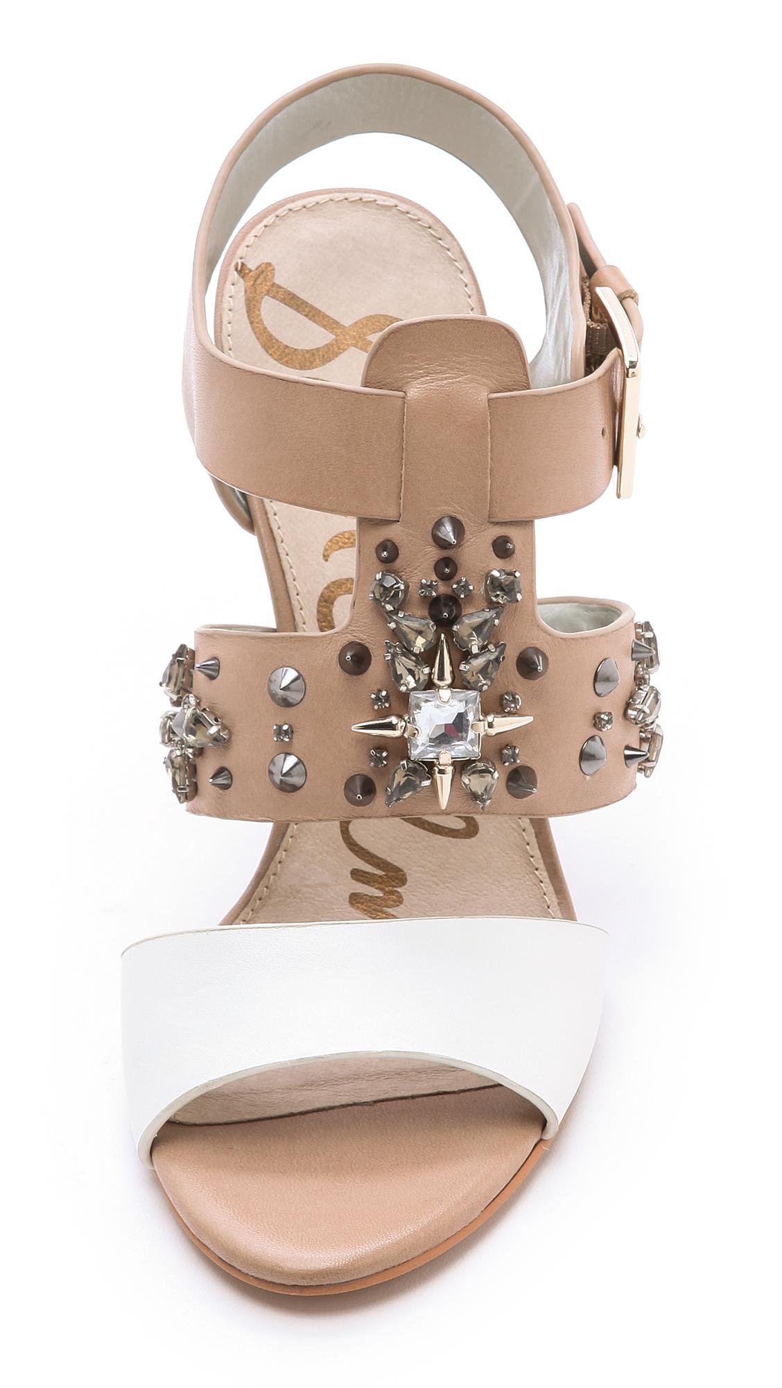 Sam Edelman Yara chunky hæl sandaler In Nude White - Lyst-9677