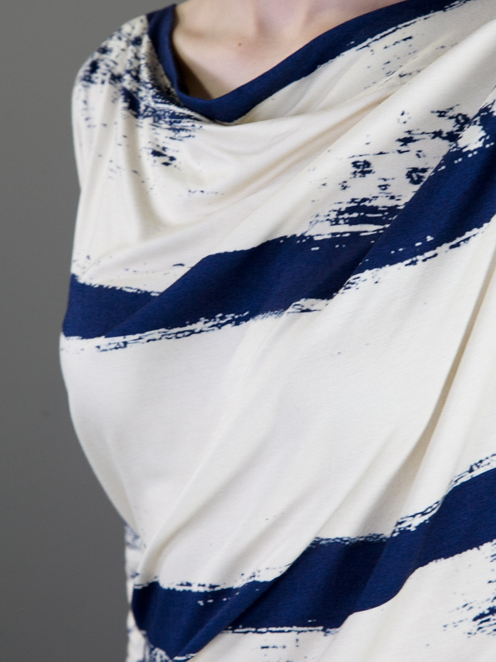 Vivienne Westwood Anglomania Striped Toga Dress In Cream