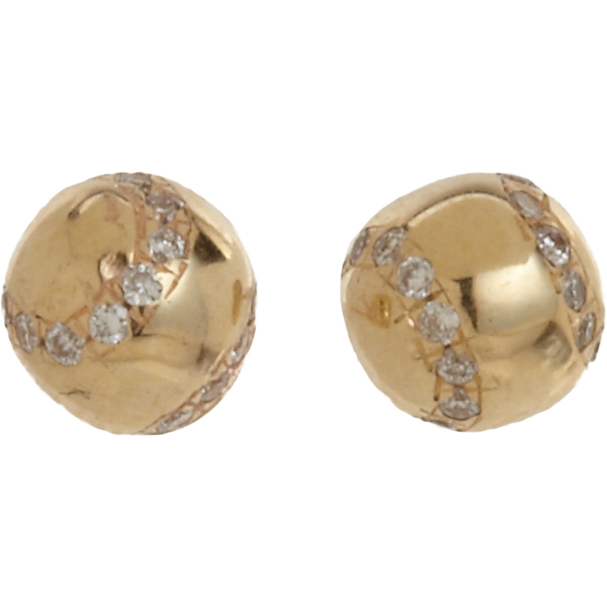 pratt tennis stud earrings in gold
