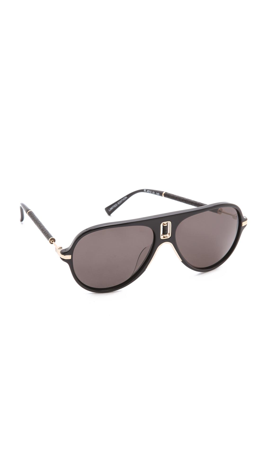 Balmain Studio Aviator Sunglasses  balmain studio oversized sunglasses in black lyst