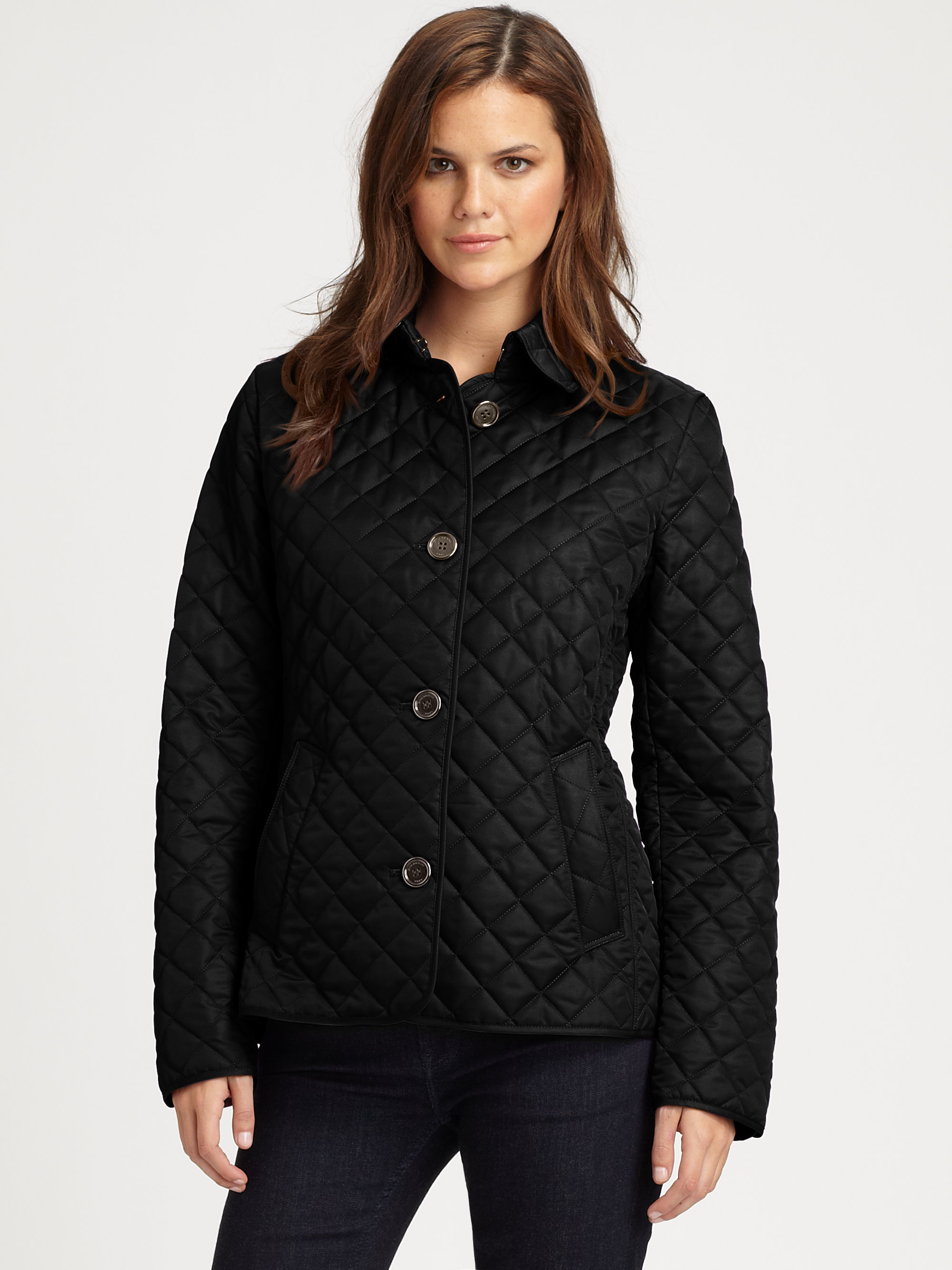 Burberry Brit Copford Quilted Shell Jacket In Black Lyst