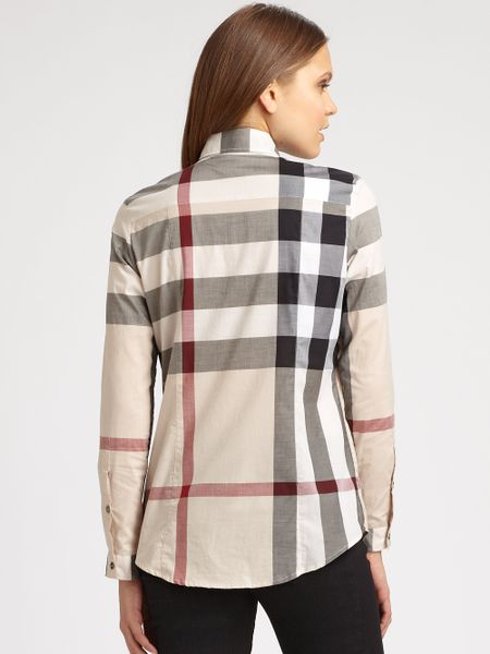 Perfect Burberry Womens Polo Beautiful Womens Burberry Polo Great Condition No Stains Minor Stitching Issues On Inside But Normal Wear, Nothing Serious Pink With The One Burberry Plaid Stripe On The Front Burberry Tops Button Down