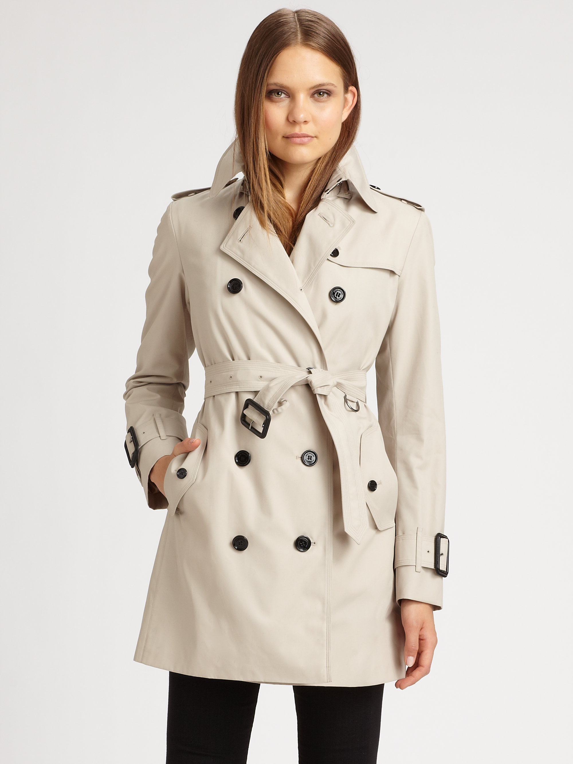 78f89ab244c8d Lyst - Burberry Marystow Double Breasted Trenchcoat in Natural