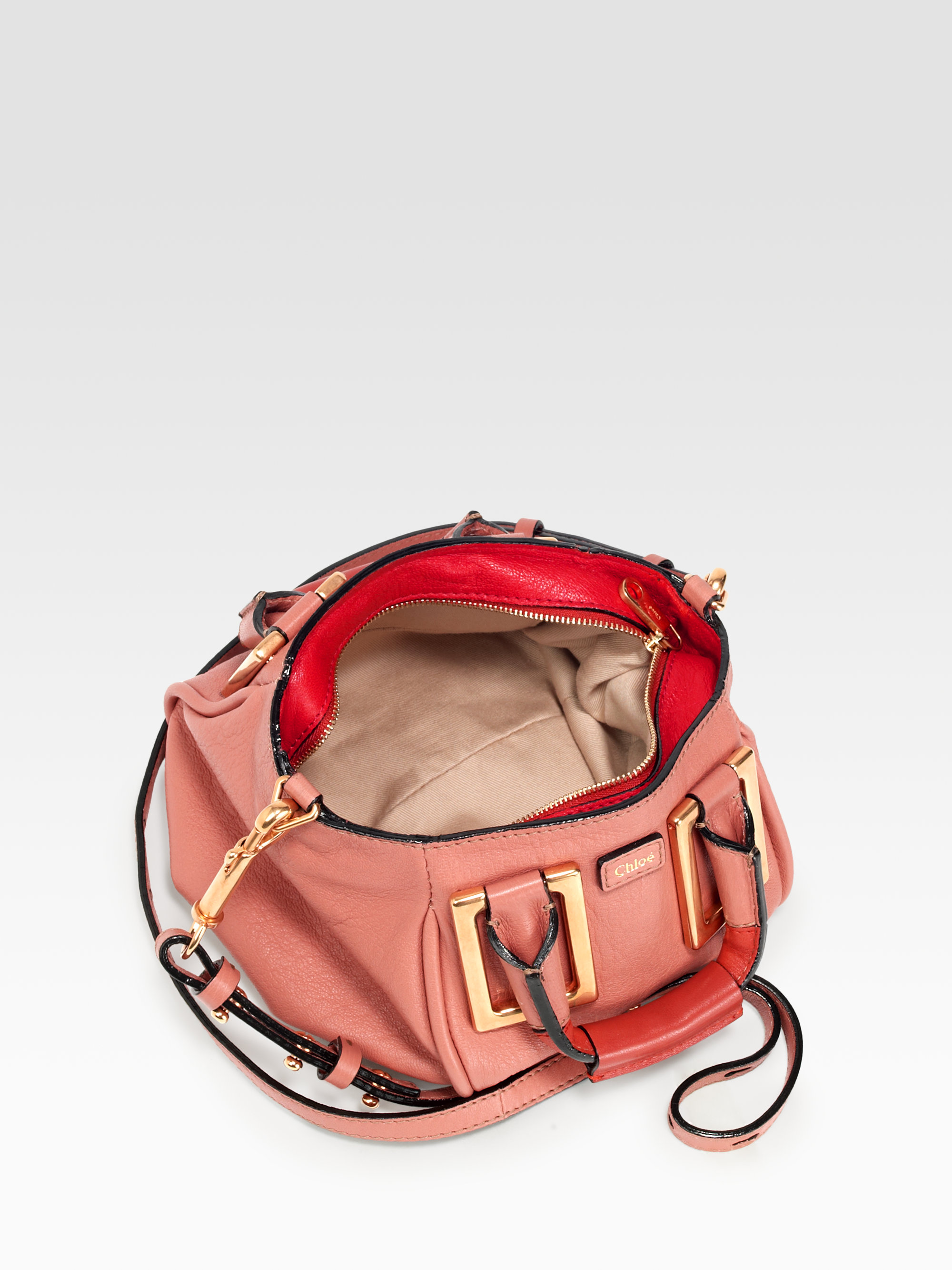 Chlo¨¦ Mini Ethel Leather Crossbody Bag in Pink (waterlily) | Lyst