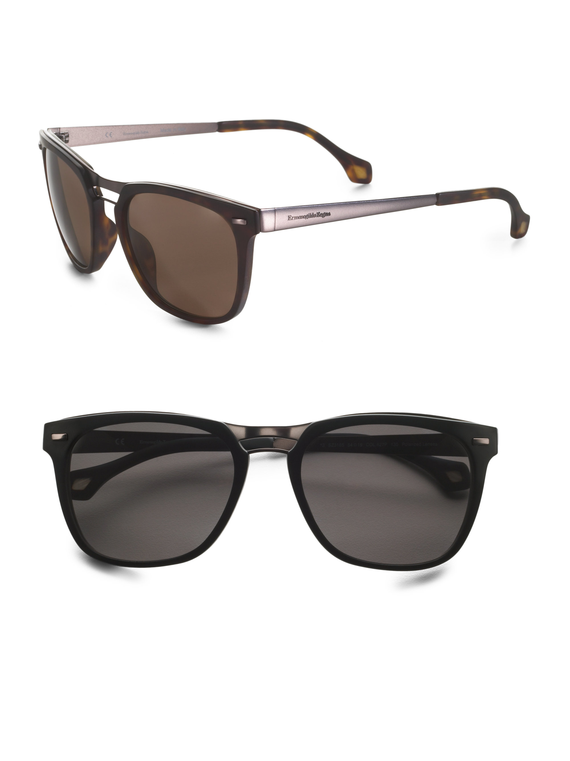 80459b333d Lyst - Ermenegildo Zegna Vintage Wayfarer Sunglasses in Black for Men