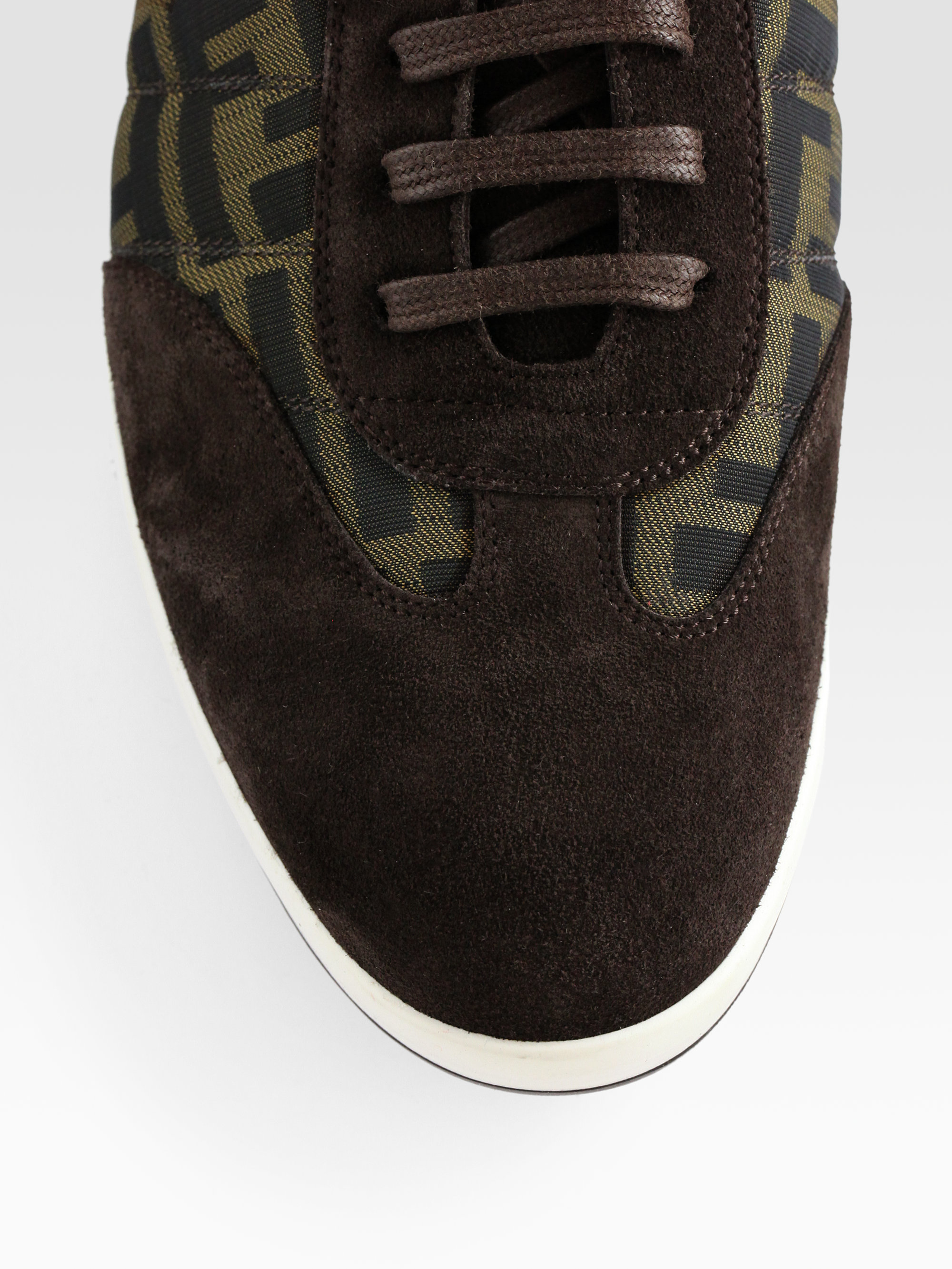 Lyst Fendi Agassi Sneaker In Brown For Men