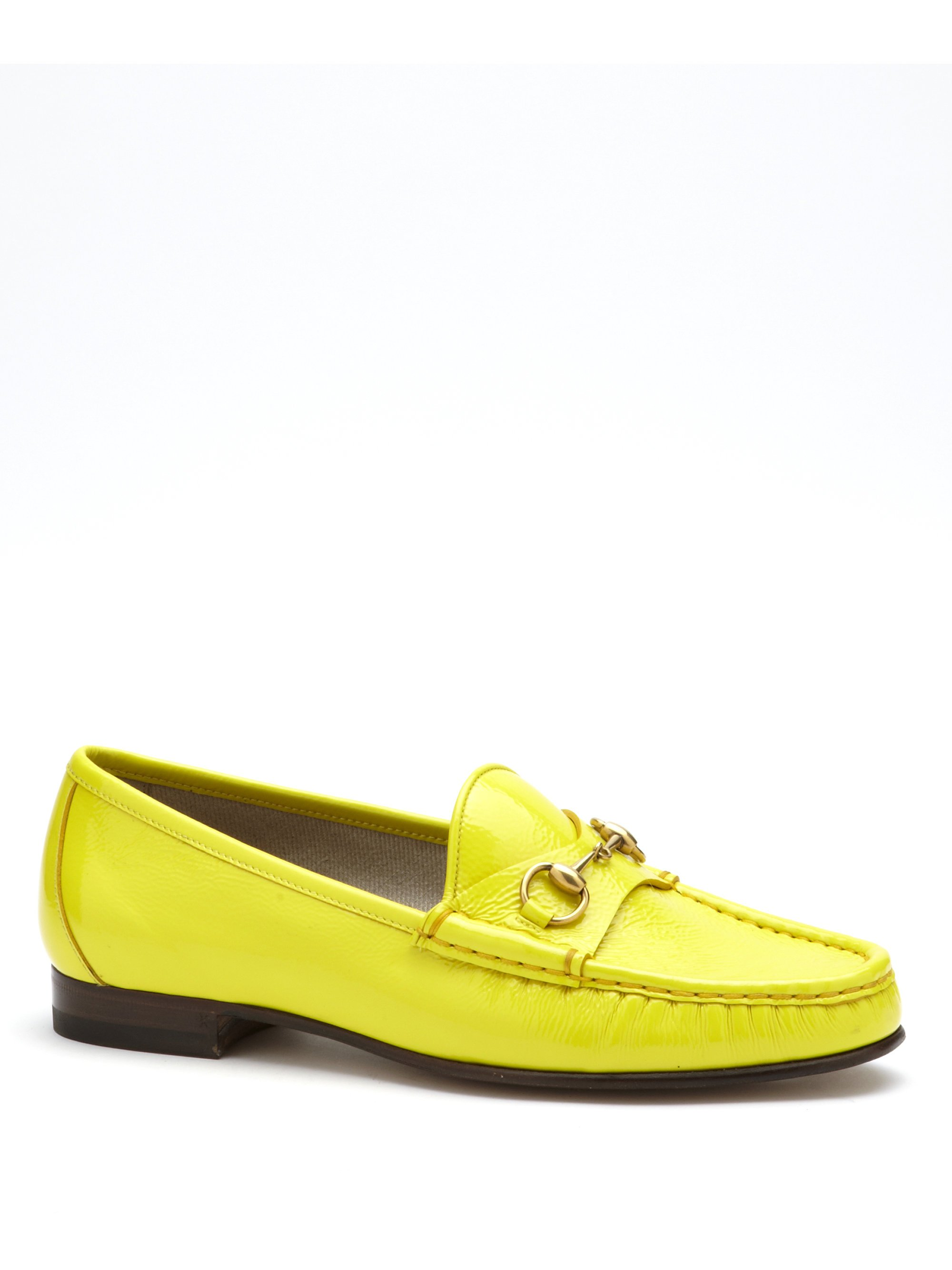 Gucci Patent Leather Horsebit Loafers