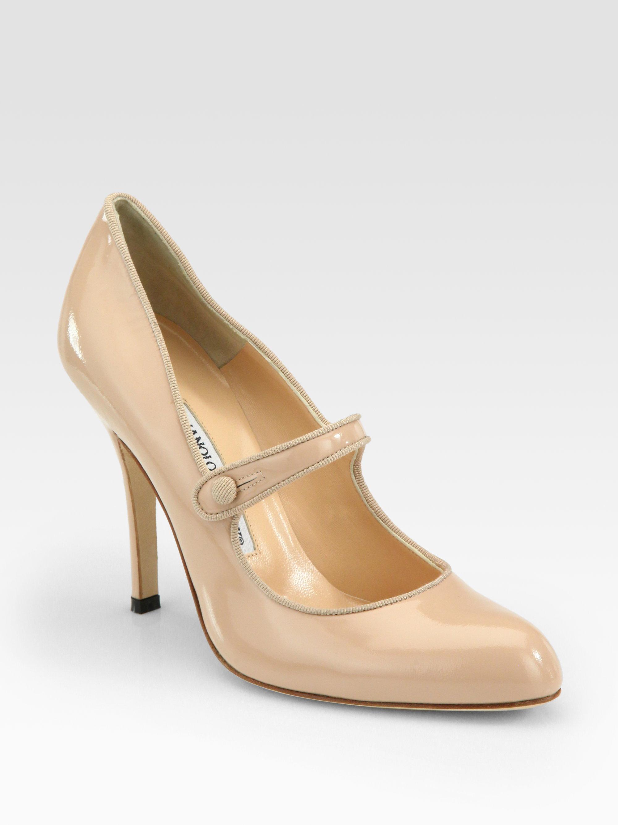 Rimocy Chunky Heel Platform Mary Janes Women Patent