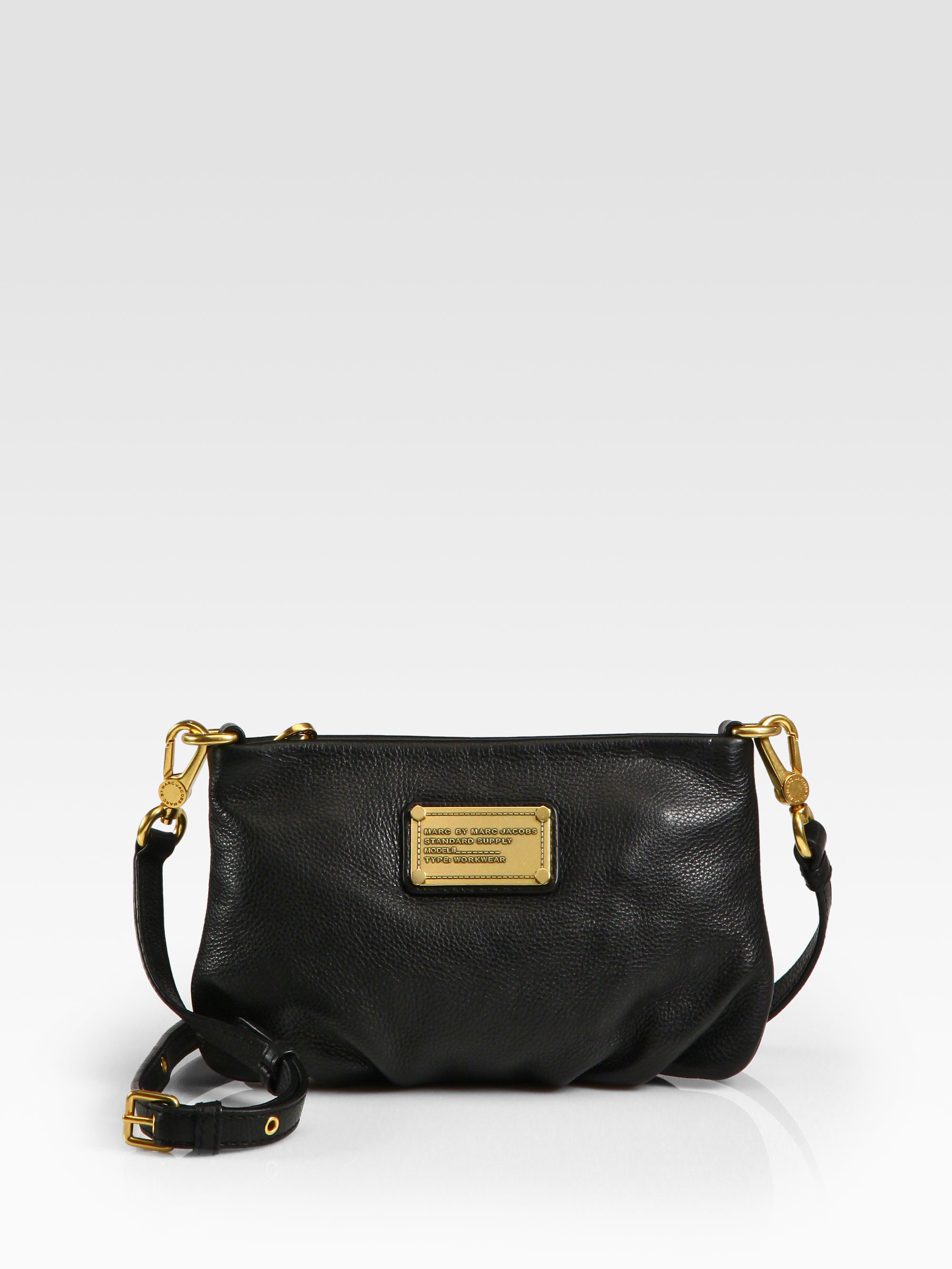 95388234f7f3f Lyst - Marc By Marc Jacobs Classic Q Percy Leather Cross-Body Bag in ...