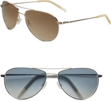 Aviator Sunglasses Gold Frame Brown Lenses : Oliver Peoples Benedict Aviator Sunglasses in Gold (gold ...