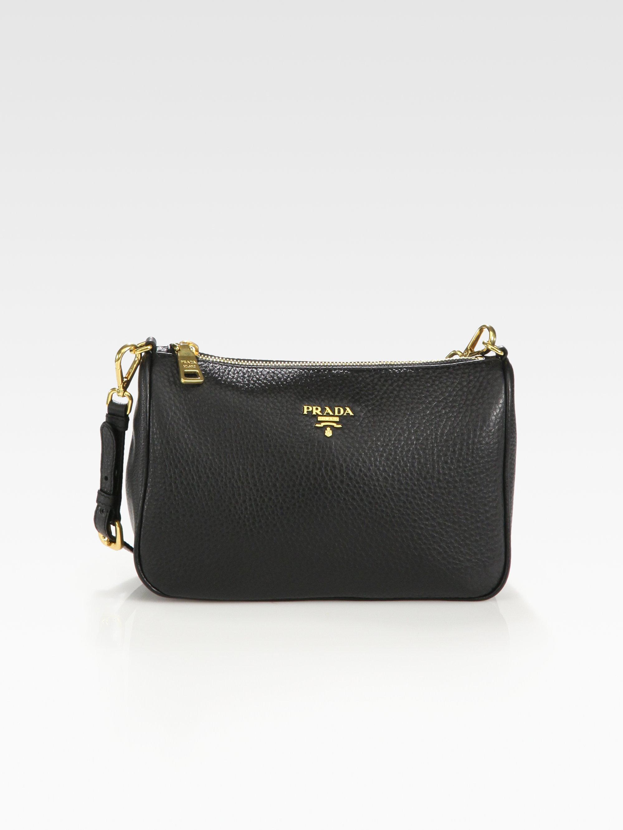 Prada Daino Mini Hobo Bag in Black