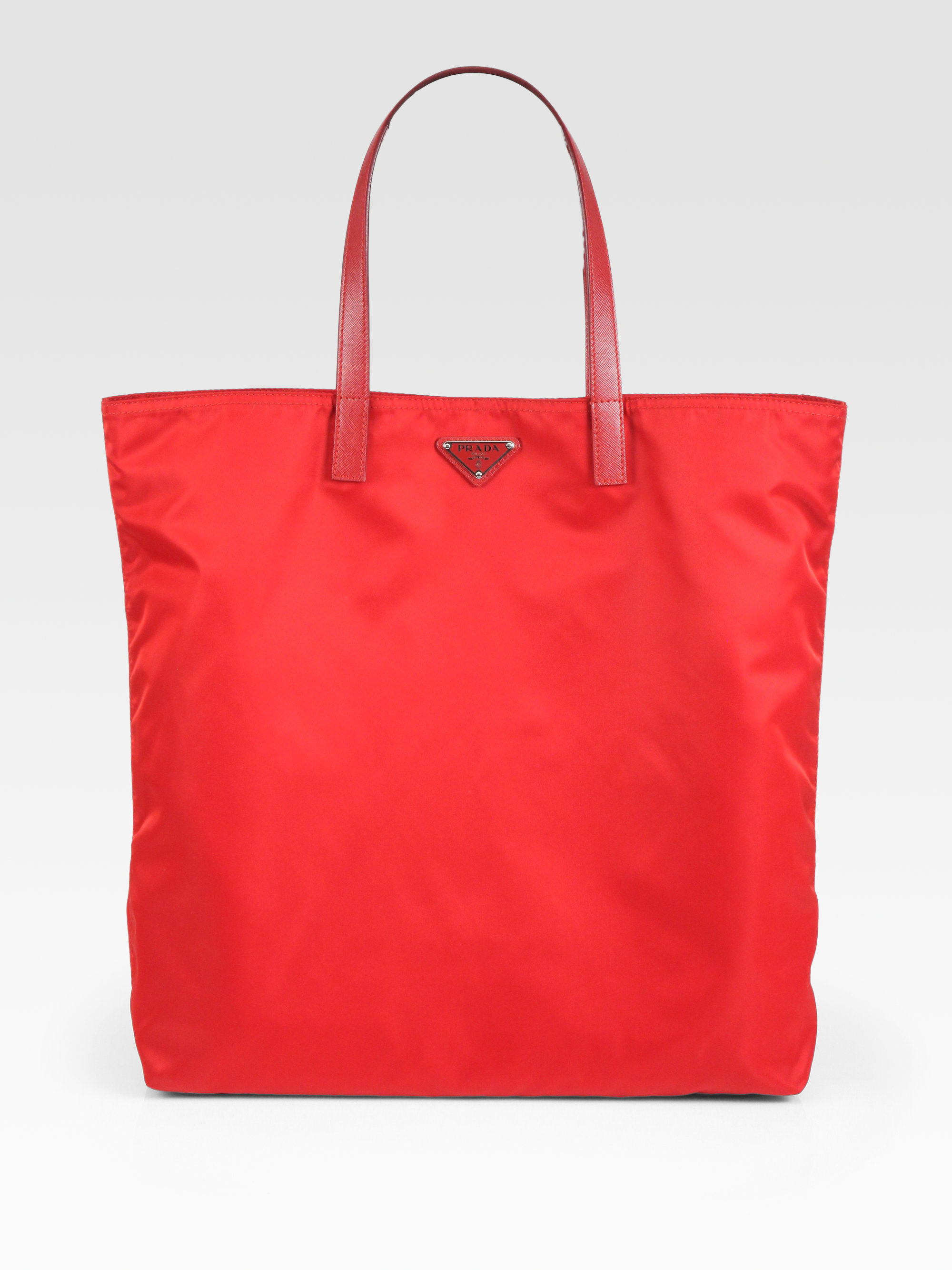 prada vela tote in red