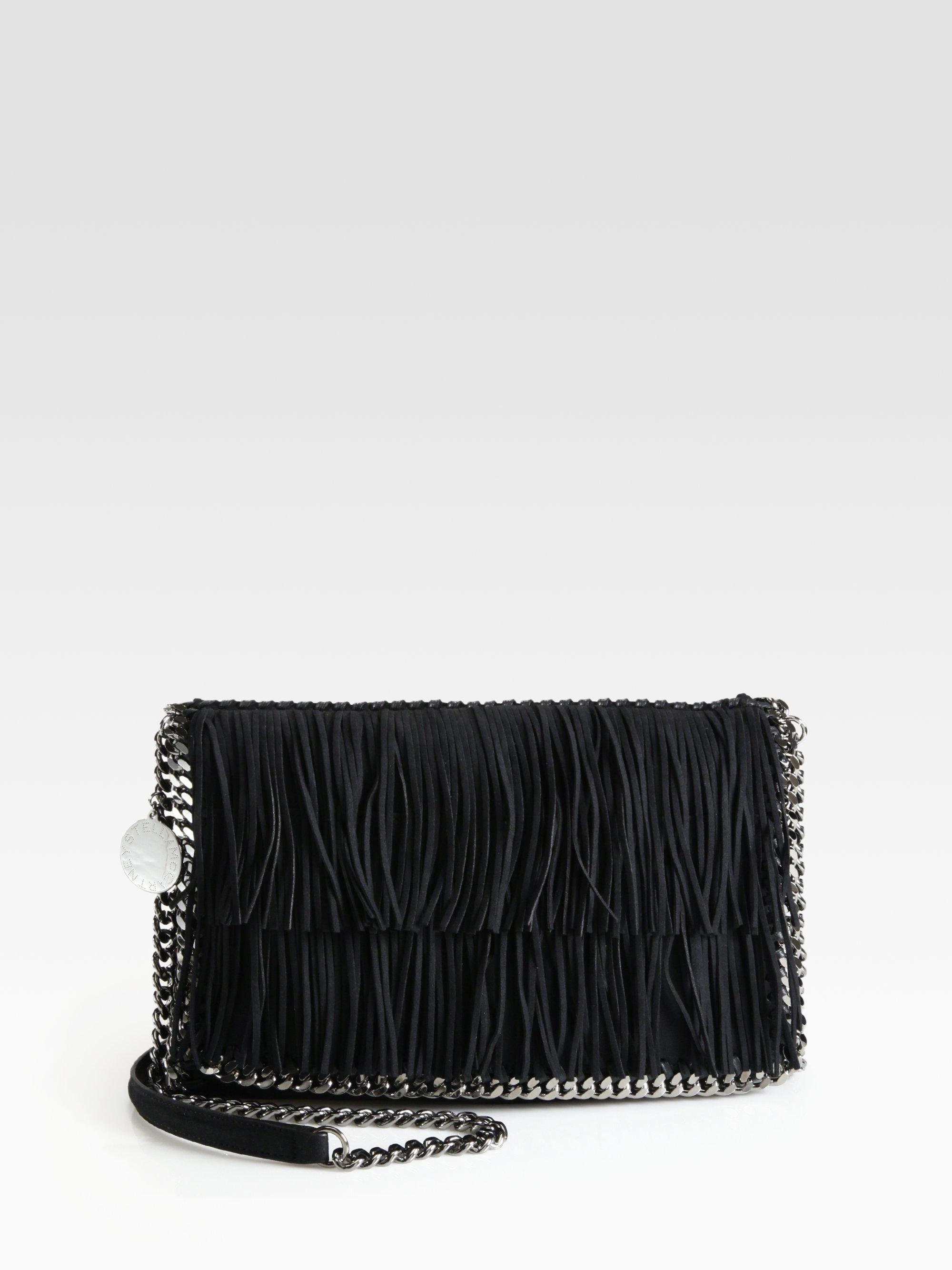 bfb84c526532 ... wholesale outlet a1967 14c49 Lyst - Stella Mccartney Fringe Flap  Shoulder Bag in Black ...