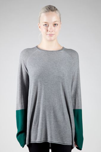 T By Alexander Wang Long Sleeve Colour Block Crewneck Pullover - Lyst