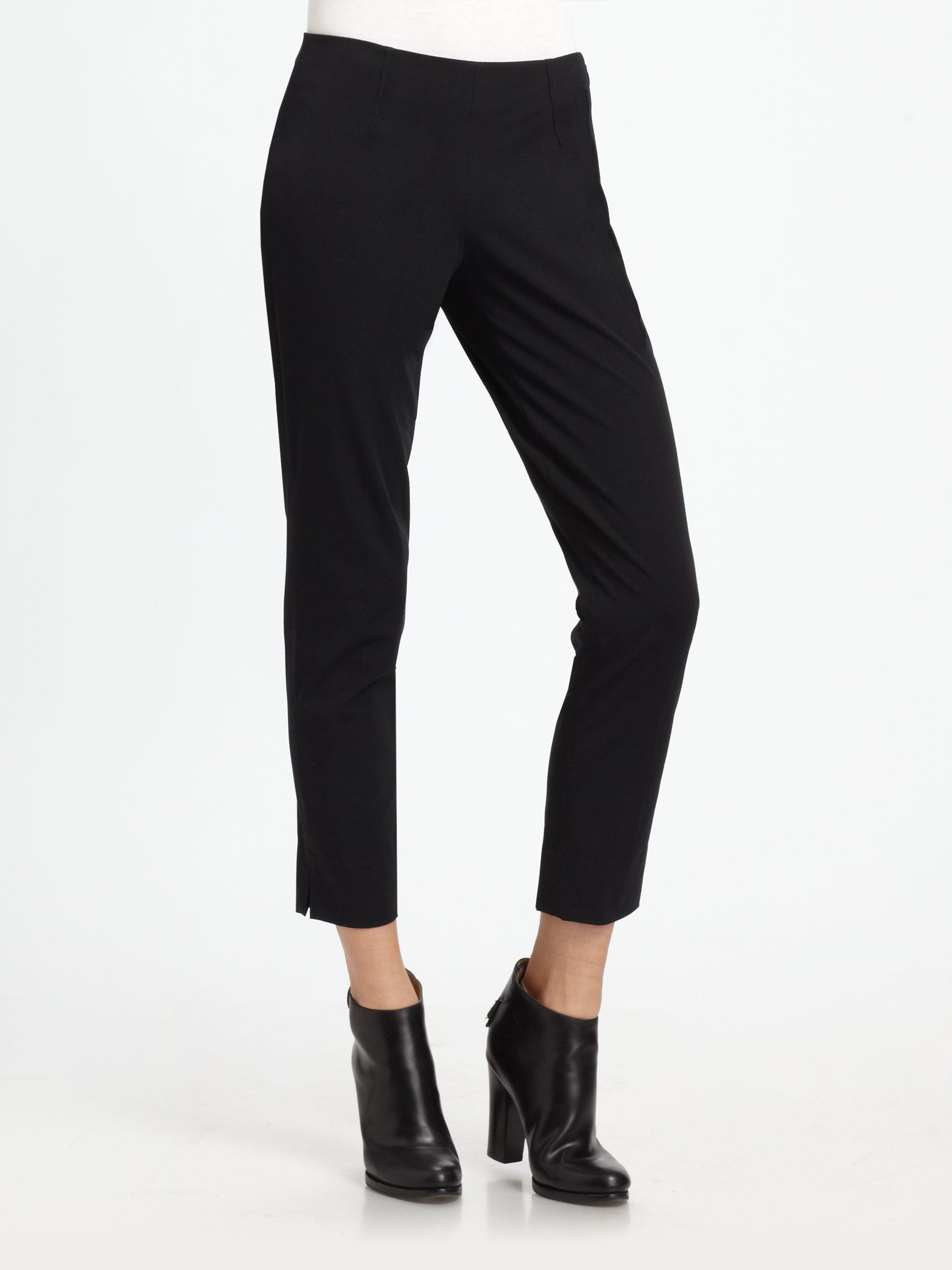 Theory Belisa Cropped Skinny Dress Pants In Black Lyst