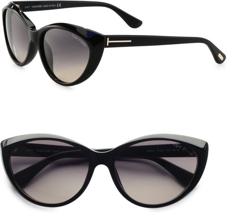 tom ford martina classic cat 39 s eye sunglasses in black lyst. Cars Review. Best American Auto & Cars Review