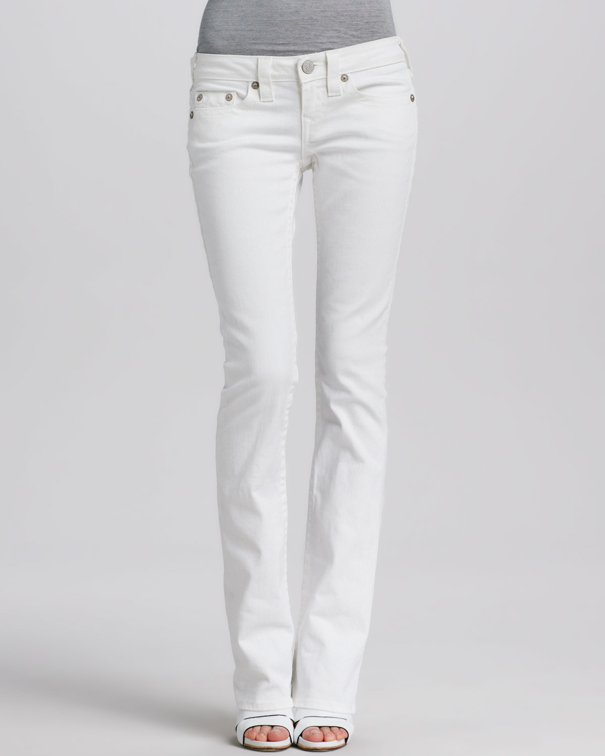 True religion Tony Bootcut Jeans in White | Lyst