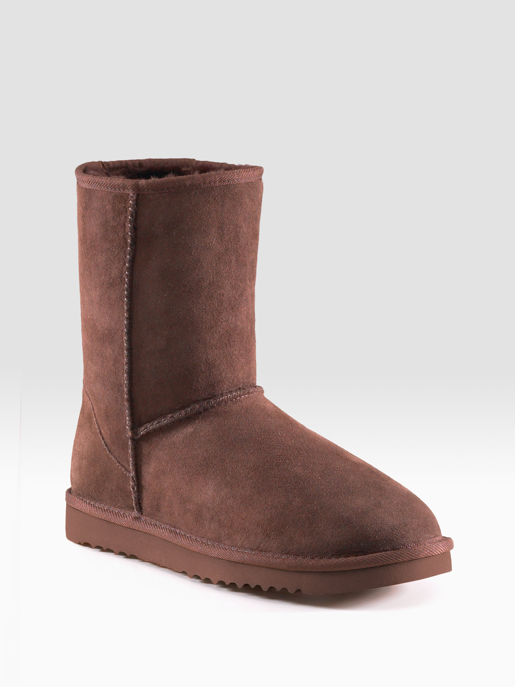ugg classic short sheepskin boots in brown chocolate lyst. Black Bedroom Furniture Sets. Home Design Ideas