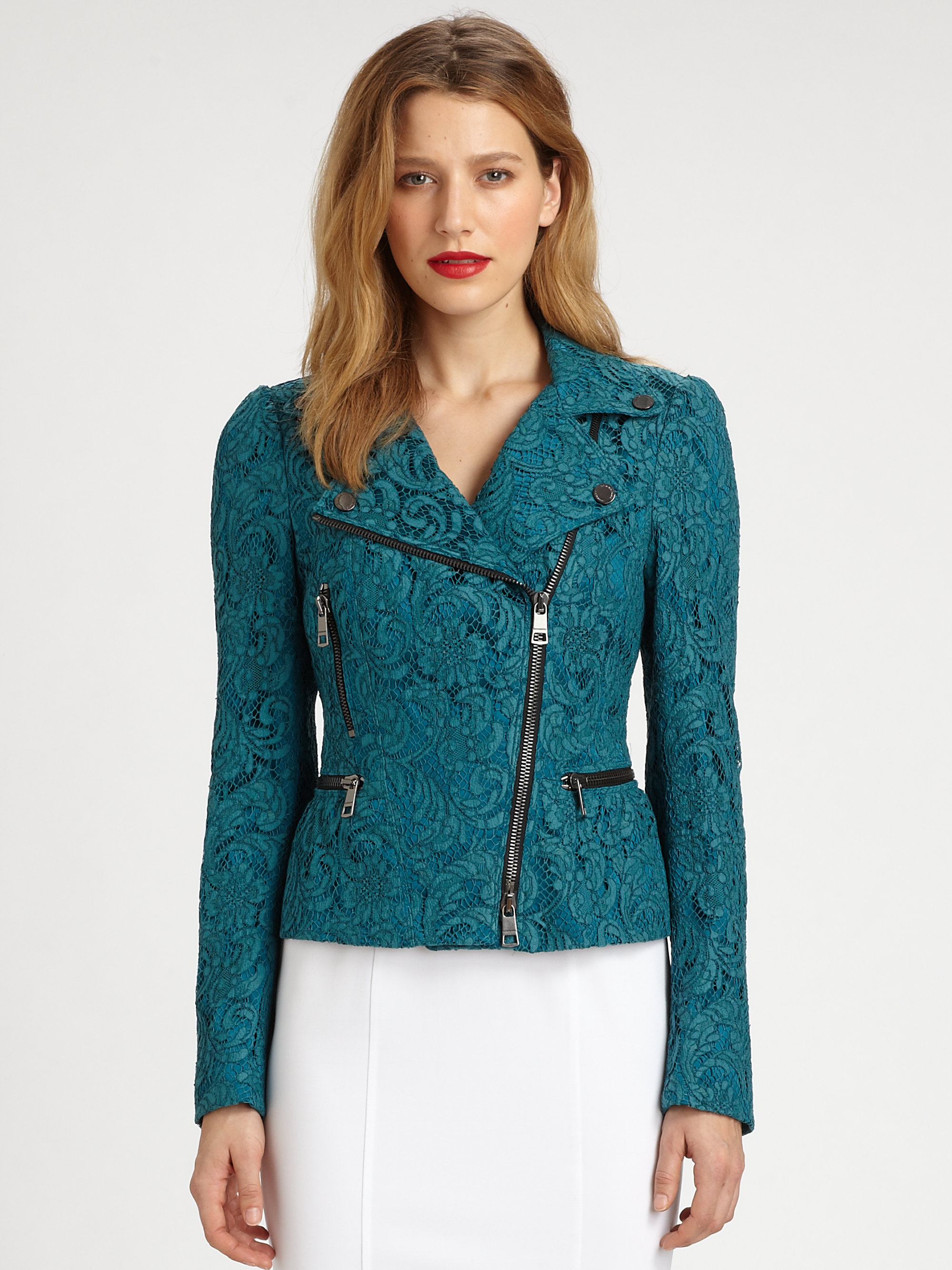 Wedding Lace Jacket burberry lace jacket in blue lyst gallery