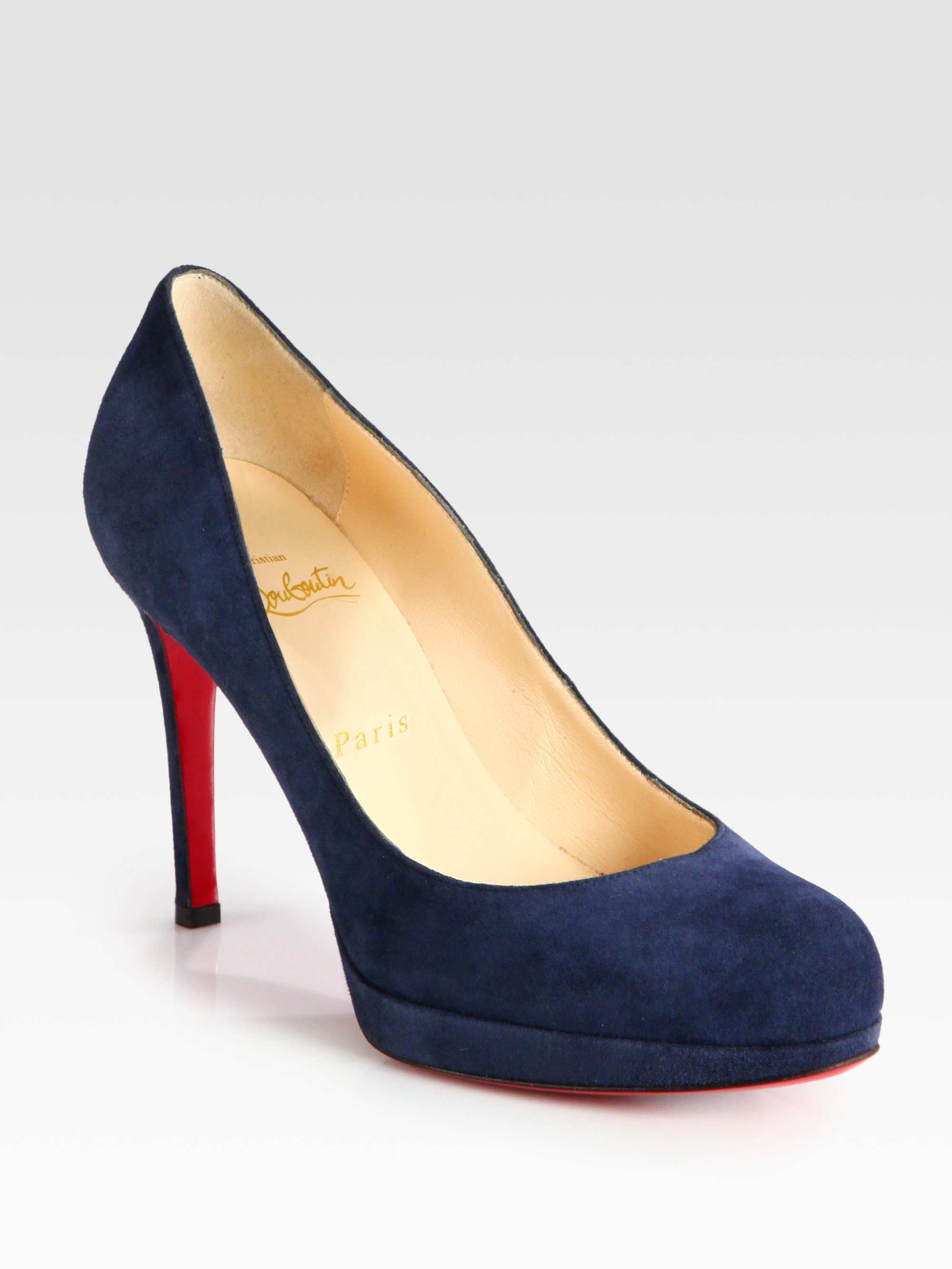 cheap for discount 6b17e e6606 Christian Louboutin Blue New Simple 100 Suede Pumps