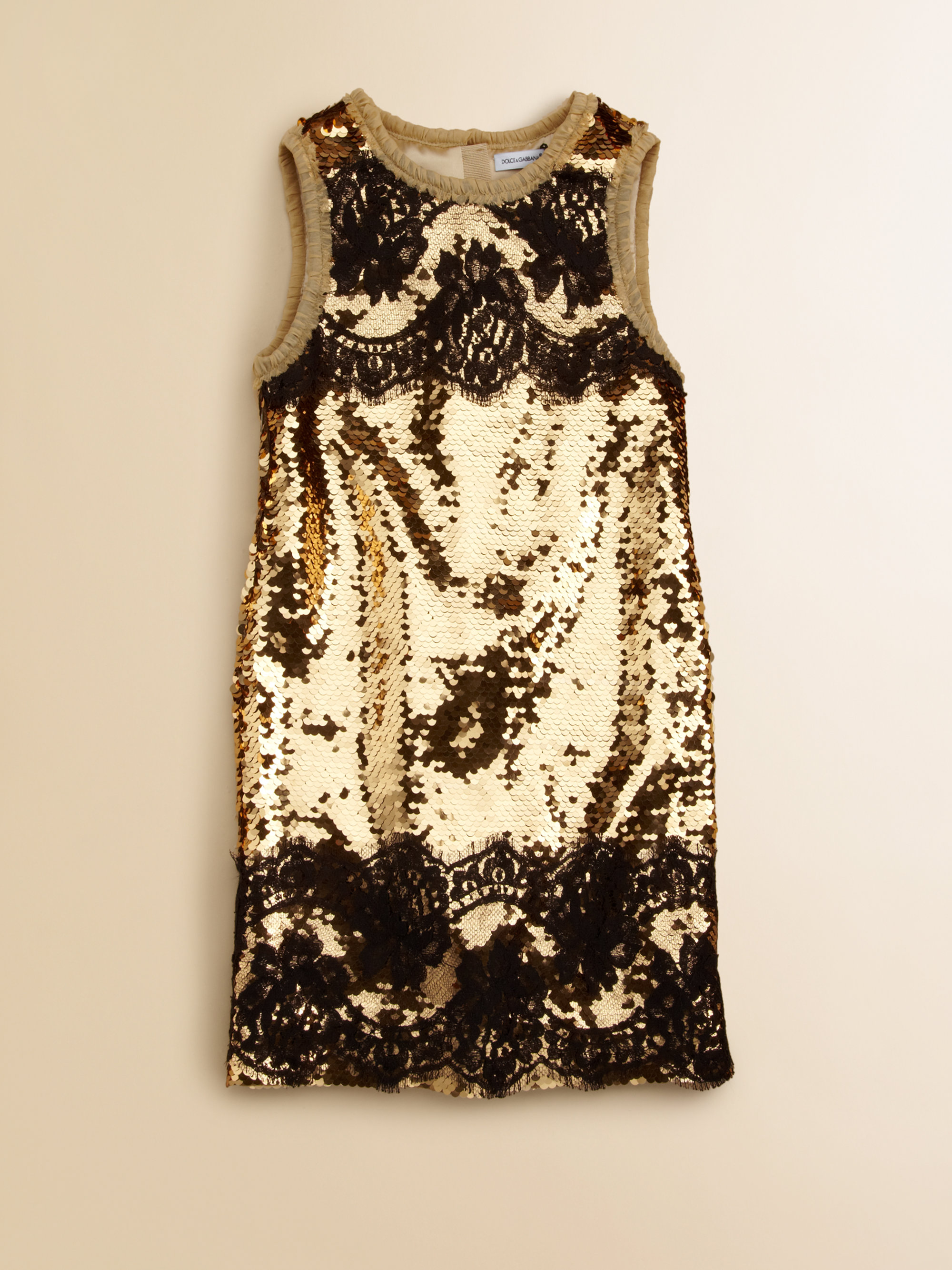 Dolce & gabbana Girls Sequin Dress in Metallic | Lyst