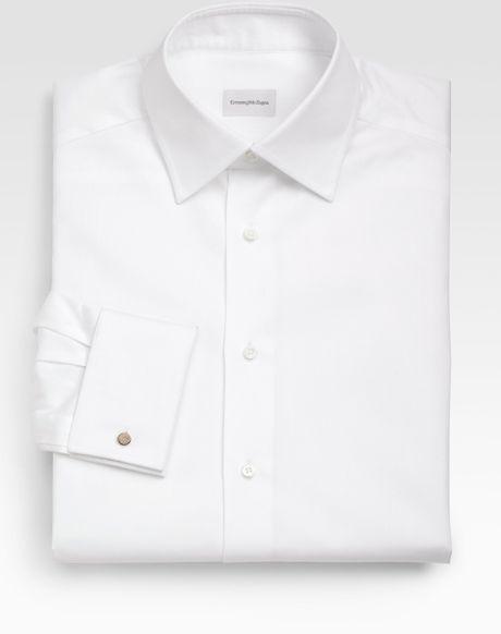 Ermenegildo Zegna French Cuff Dress Shirt In White For Men