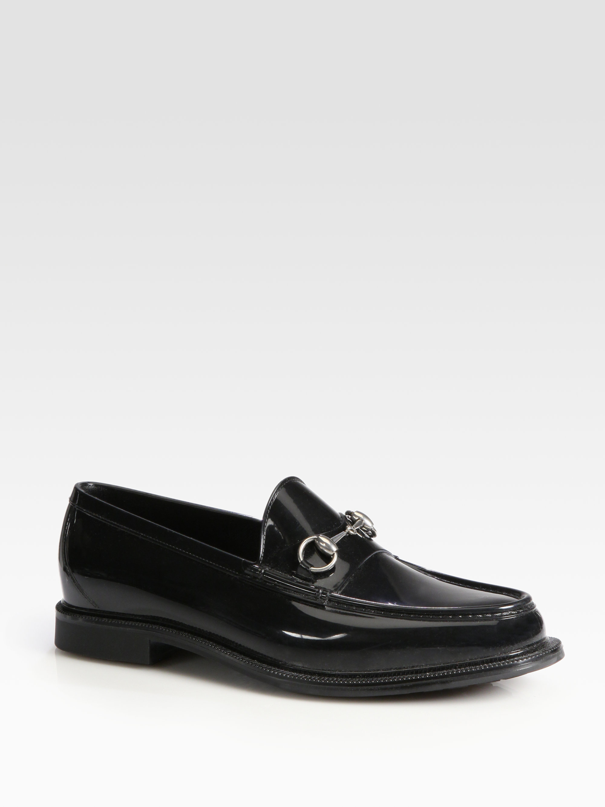 gucci rubber shoe in black for lyst