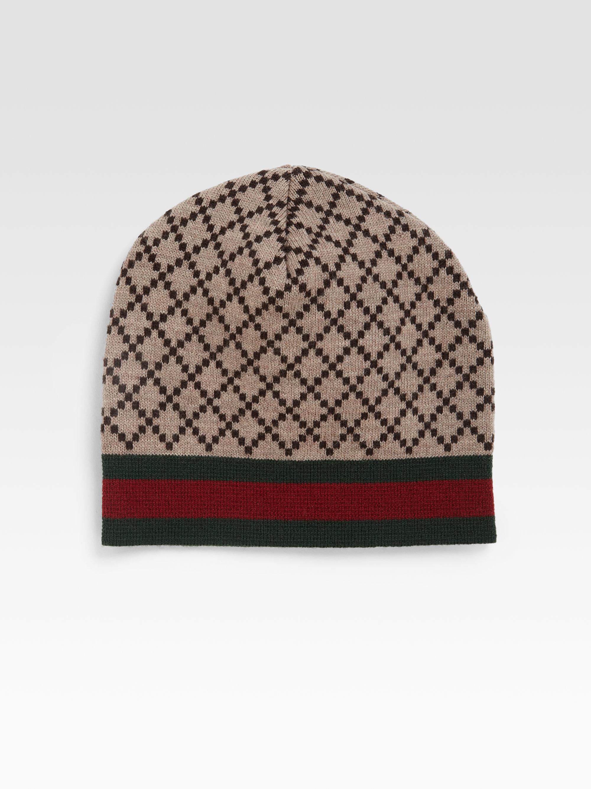 1fda57ec7 Gucci Brown Knit Hat for men