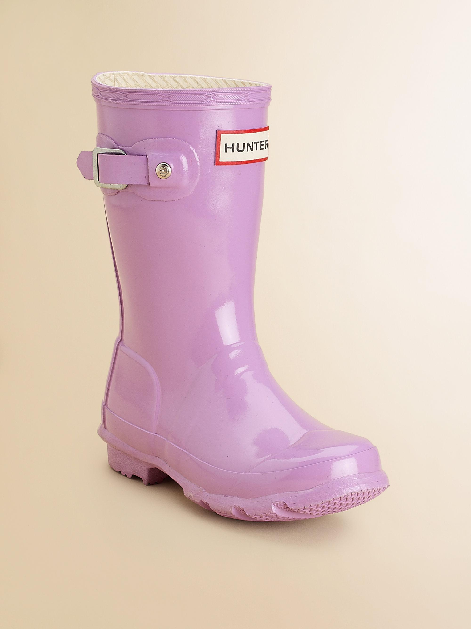 Hunter Kids High Gloss Original Tall Rain Boots in Pink | Lyst