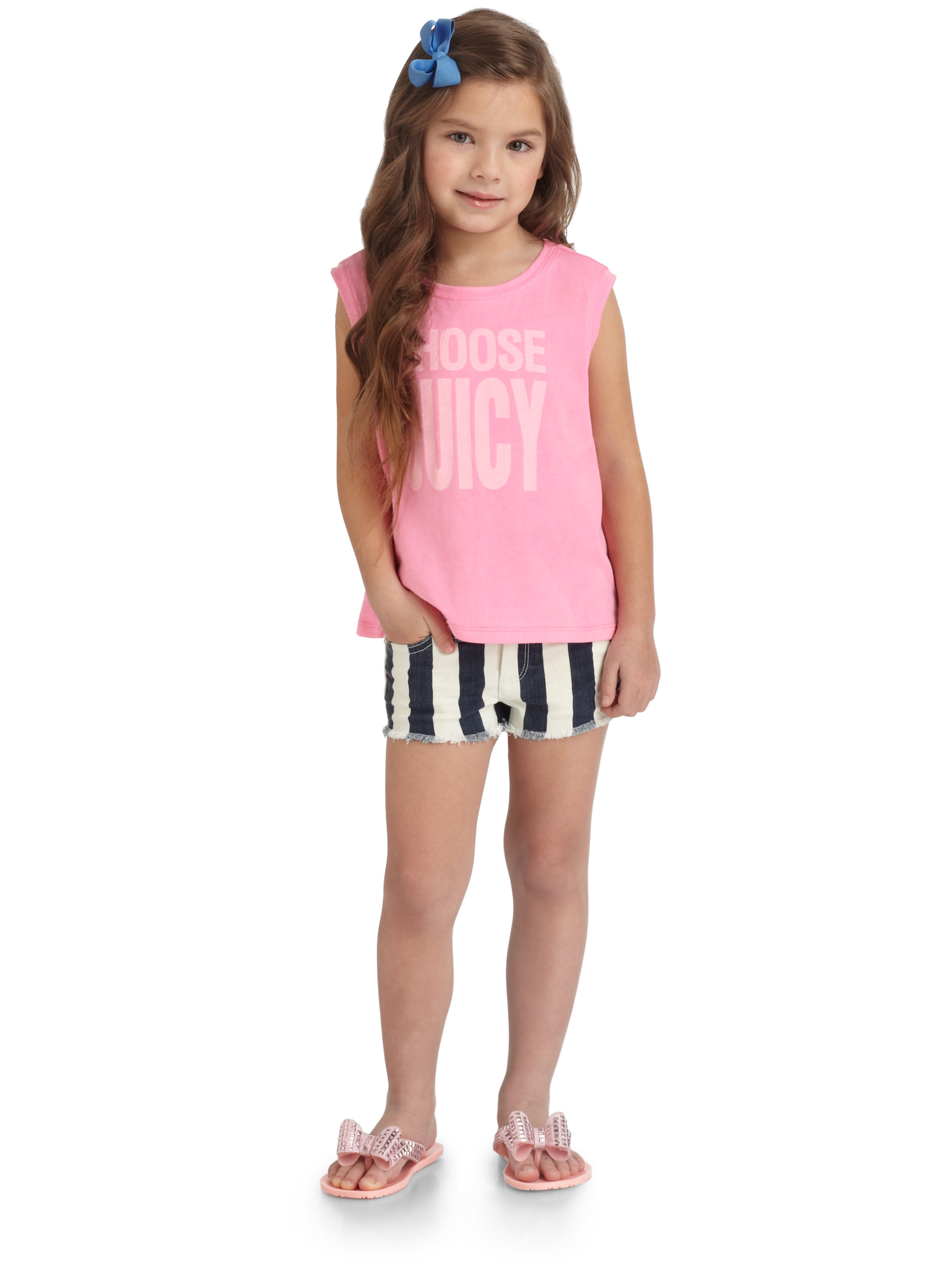 Lyst - Juicy Couture Toddlers Little Girls Striped Shorts ...