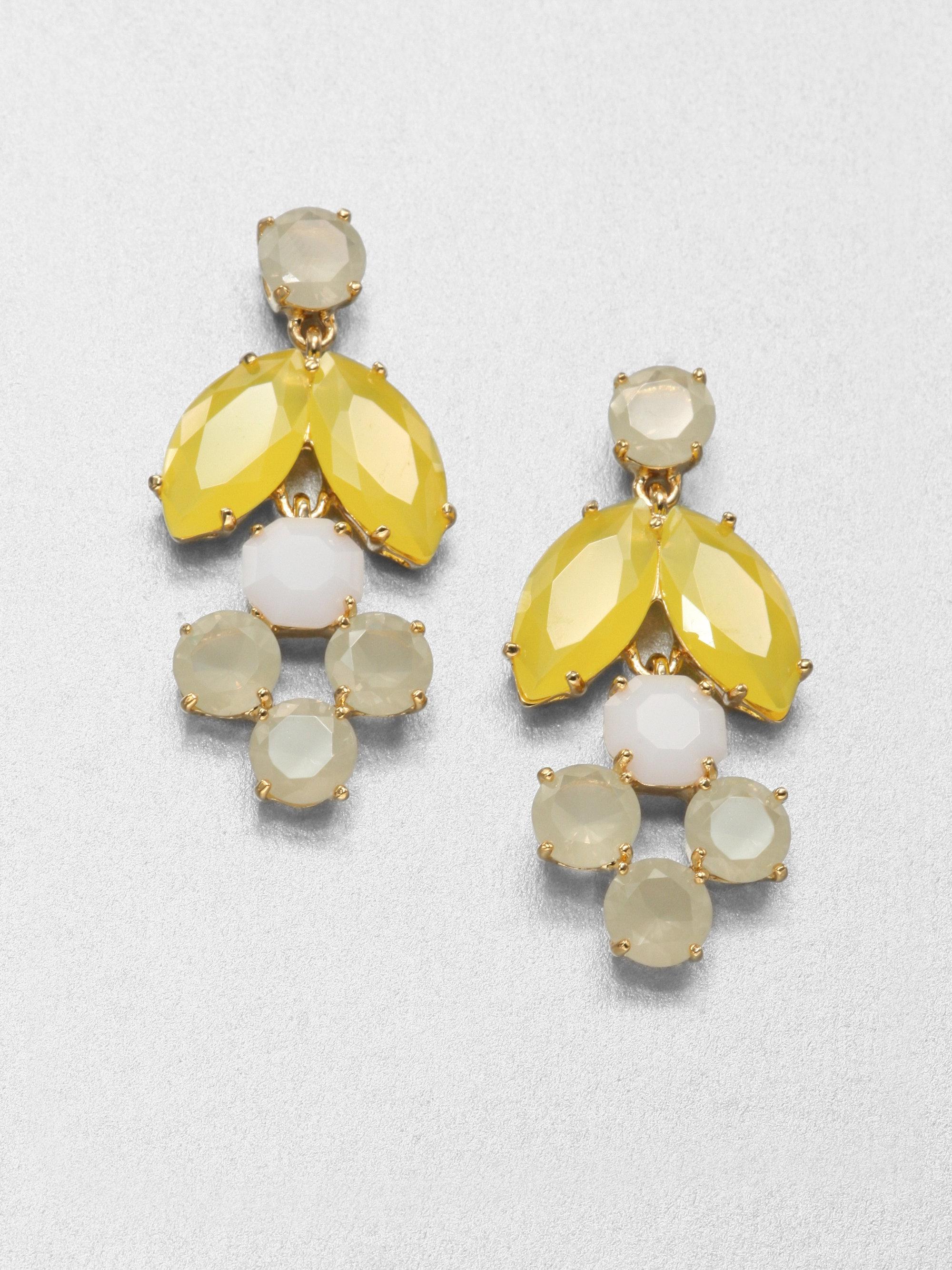 Lyst kate spade new york chandelier earrings in white gallery arubaitofo Choice Image