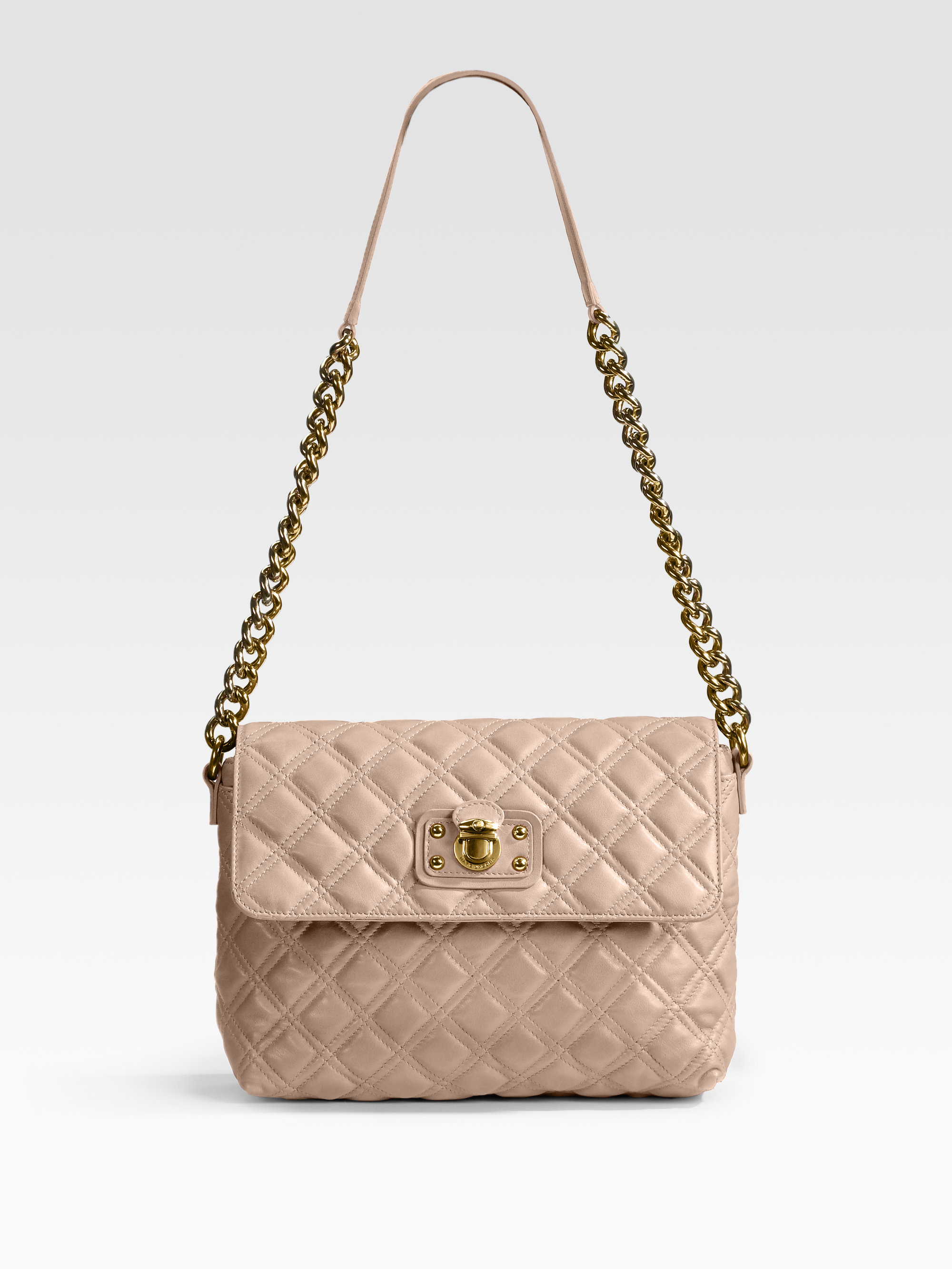 bb5aea2de37 Marc Jacobs Quilting The Large Single Leather Bag in Pink - Lyst