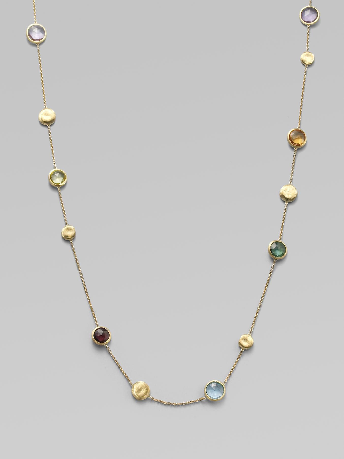 Lyst Marco Bicego Multi Gemstone 18k Gold Extralong