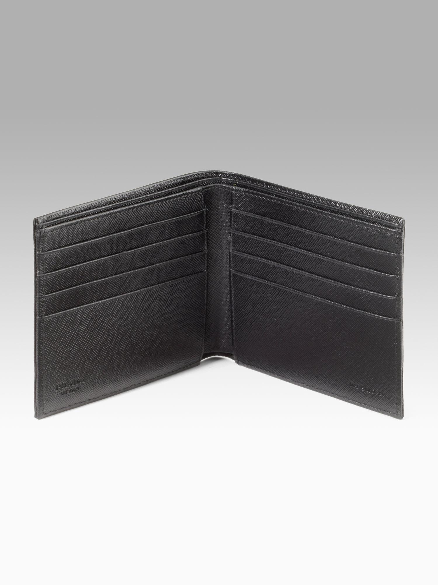 Prada Nylon Billfold Wallet in Black for Men (nero) | Lyst